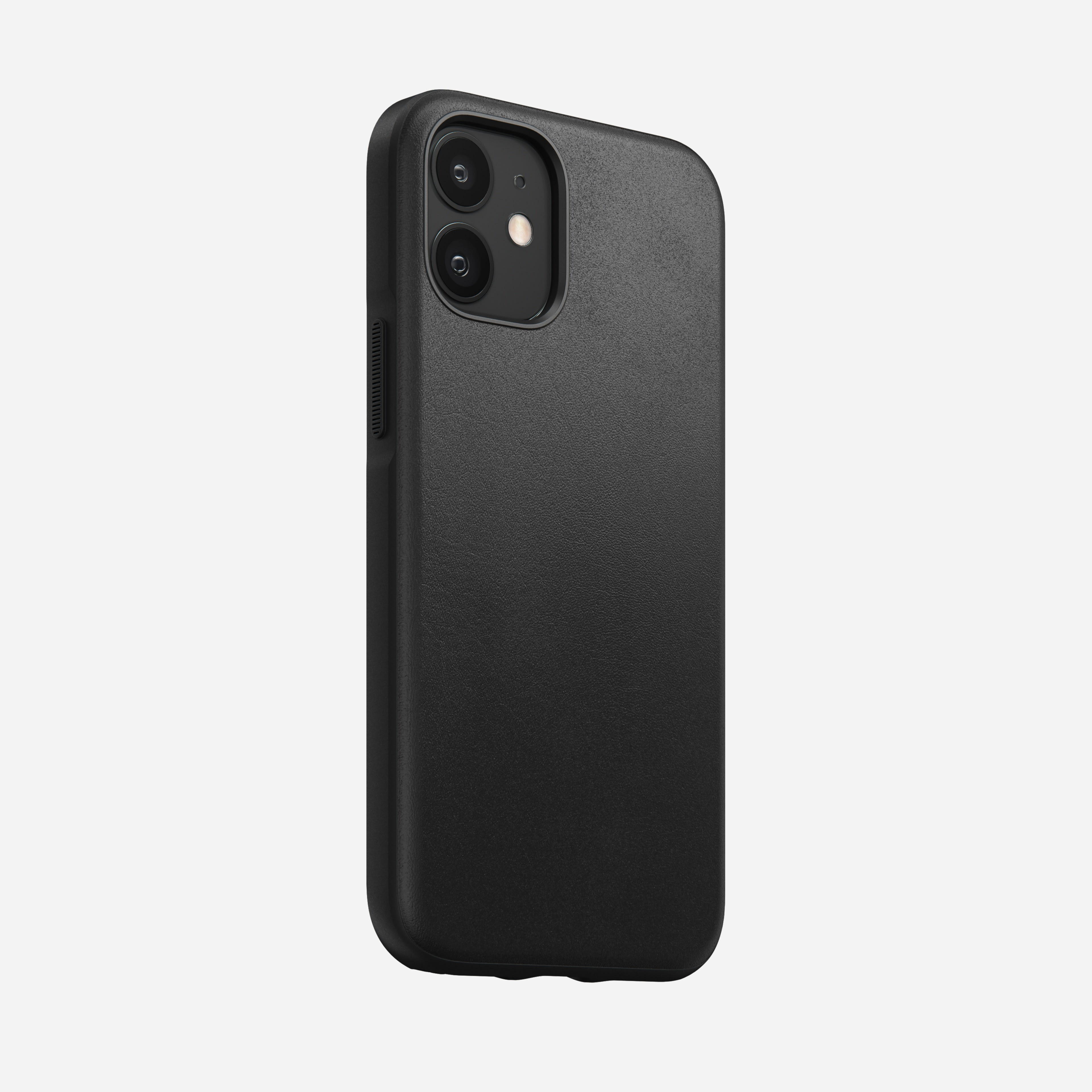Rugged case horween leather black iphone 12 mini