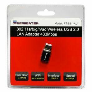 USB Wireless 802.11 AC600 High Speed Network Adapter