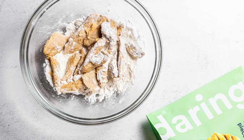 Original Daring Pieces dredged in flour