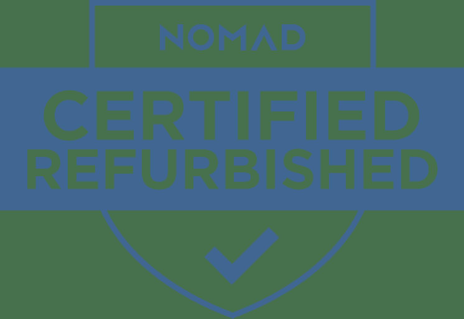 Nomad® Refurbished Logo.
