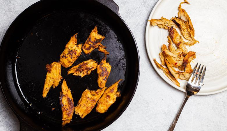 Daring Cajun Pieces in pan