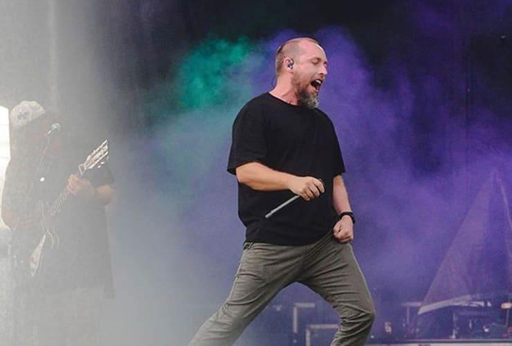 Darren Mulligan singing onstage