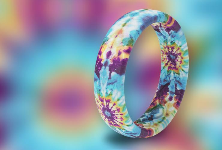 Tie-Dye Rings for Women