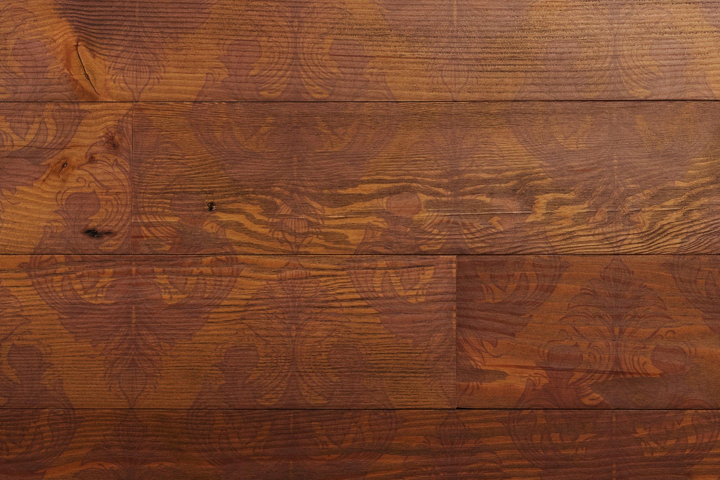 Victoria Vandyke peel and stick wood