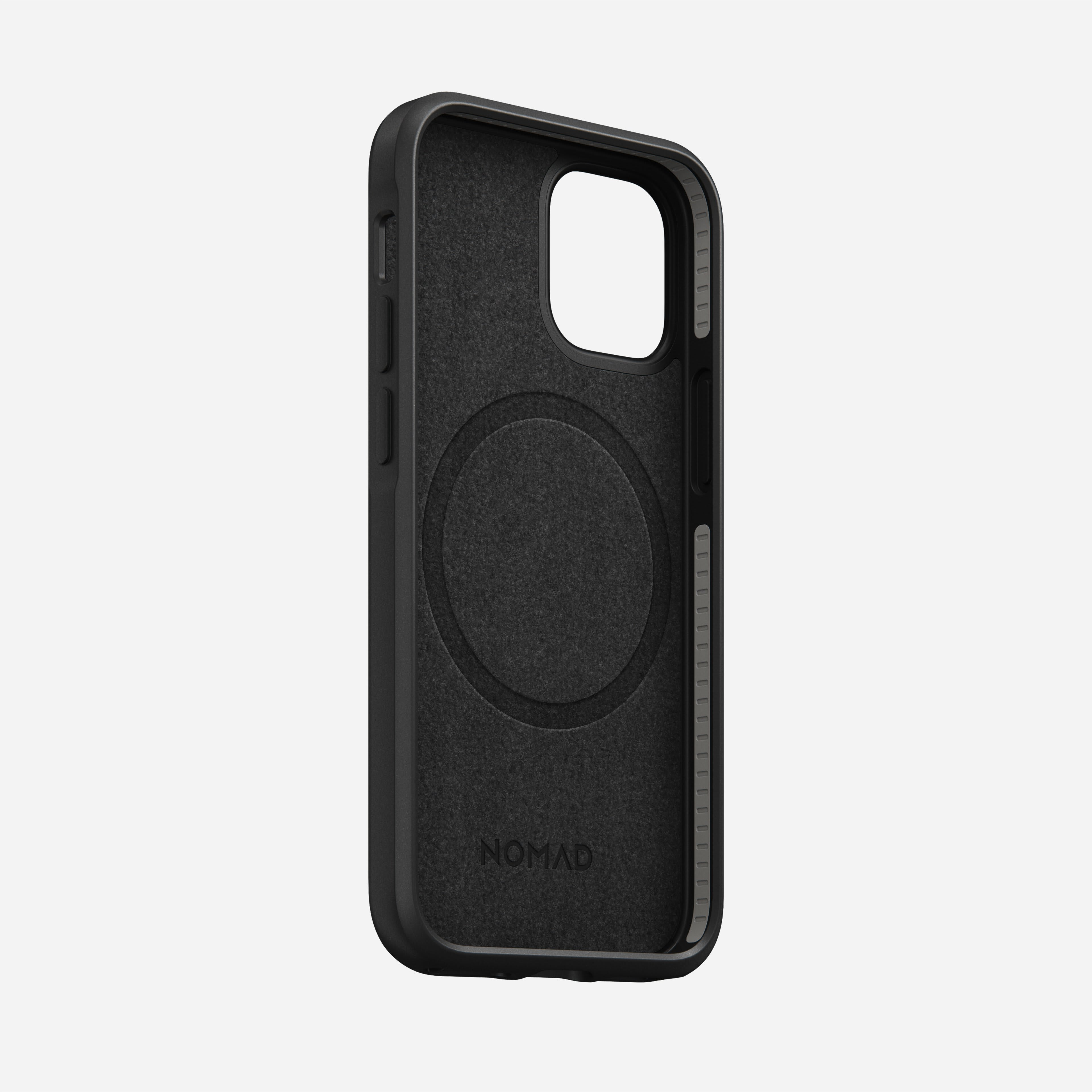 Rugged case magsafe horween leather black iphone 12 mini
