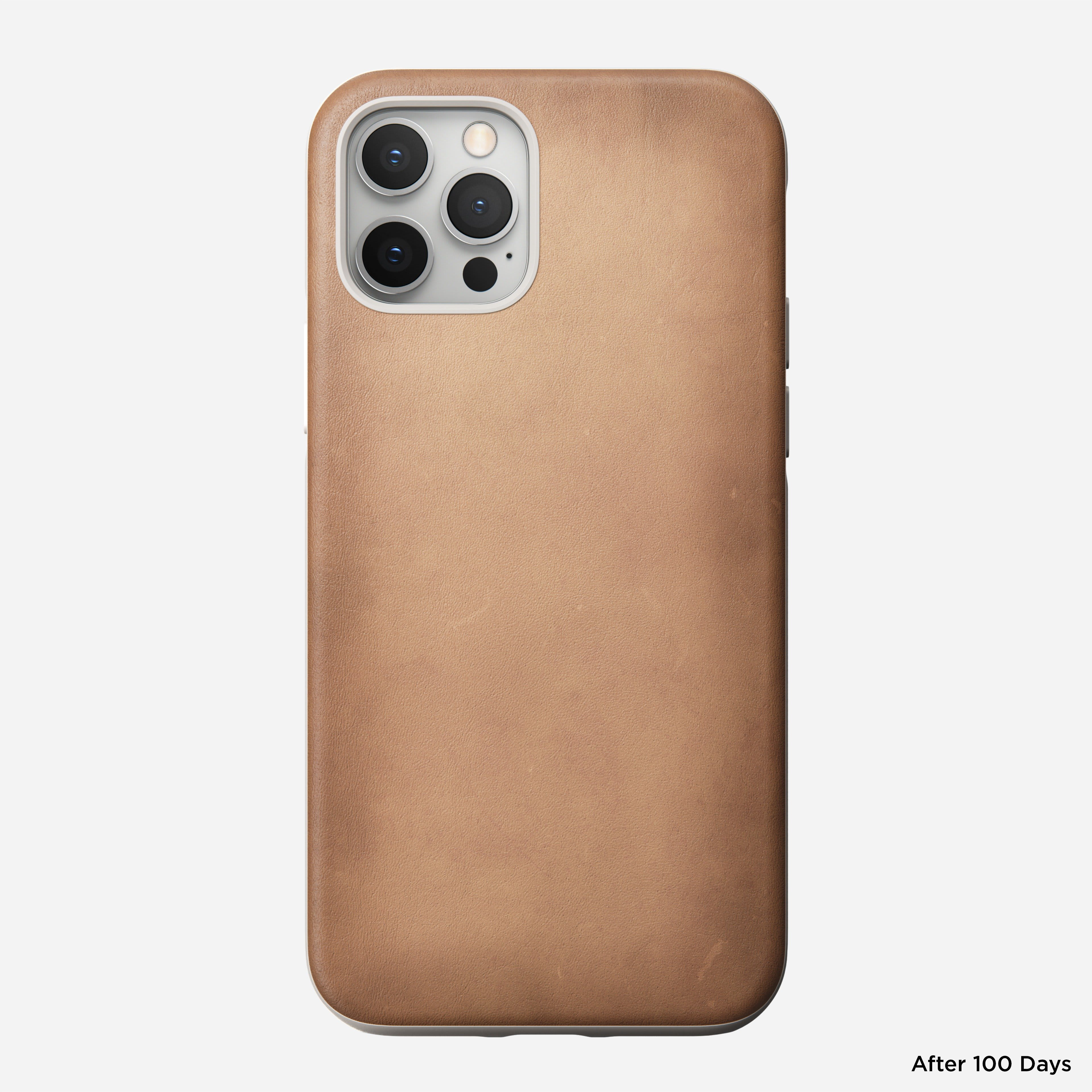 Rugged case horween leather natural iphone 12 pro