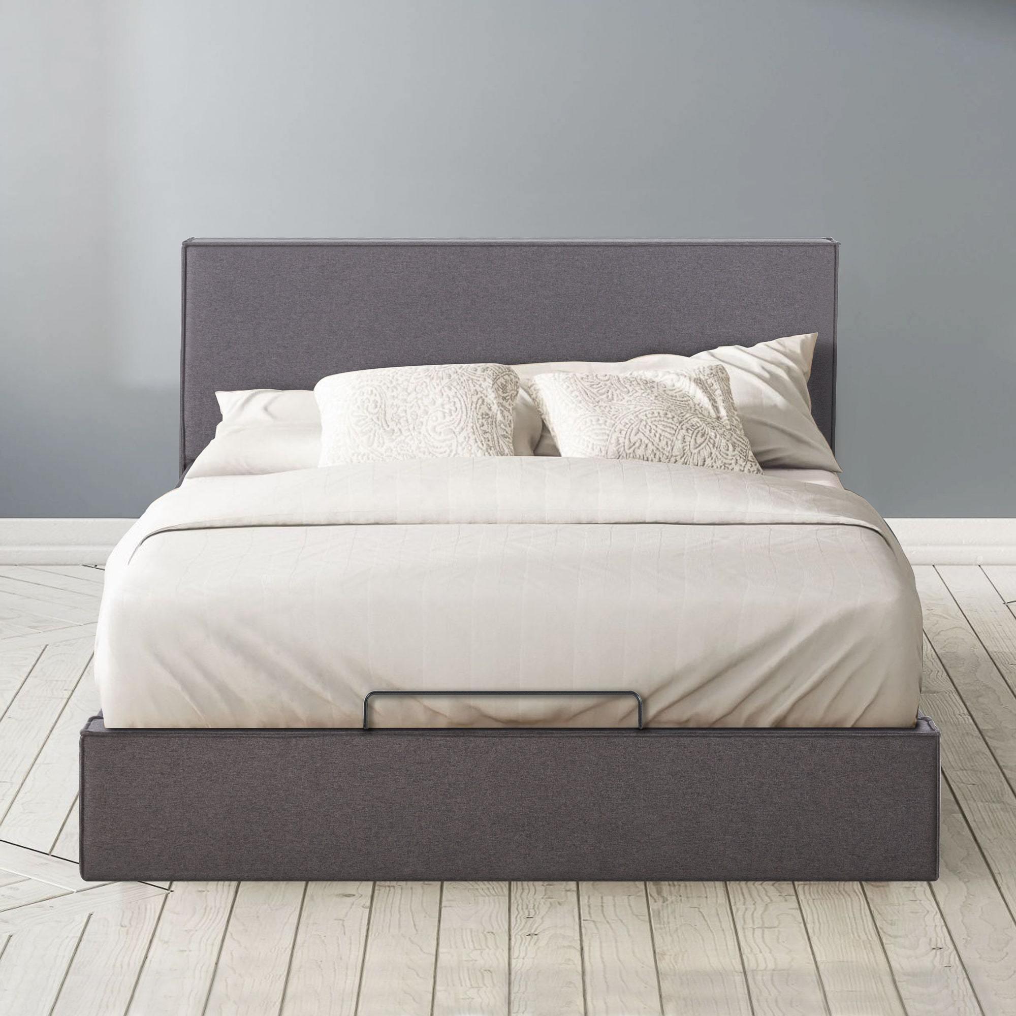Finley Upholstered Platform Bed Frame with Lifting Storage