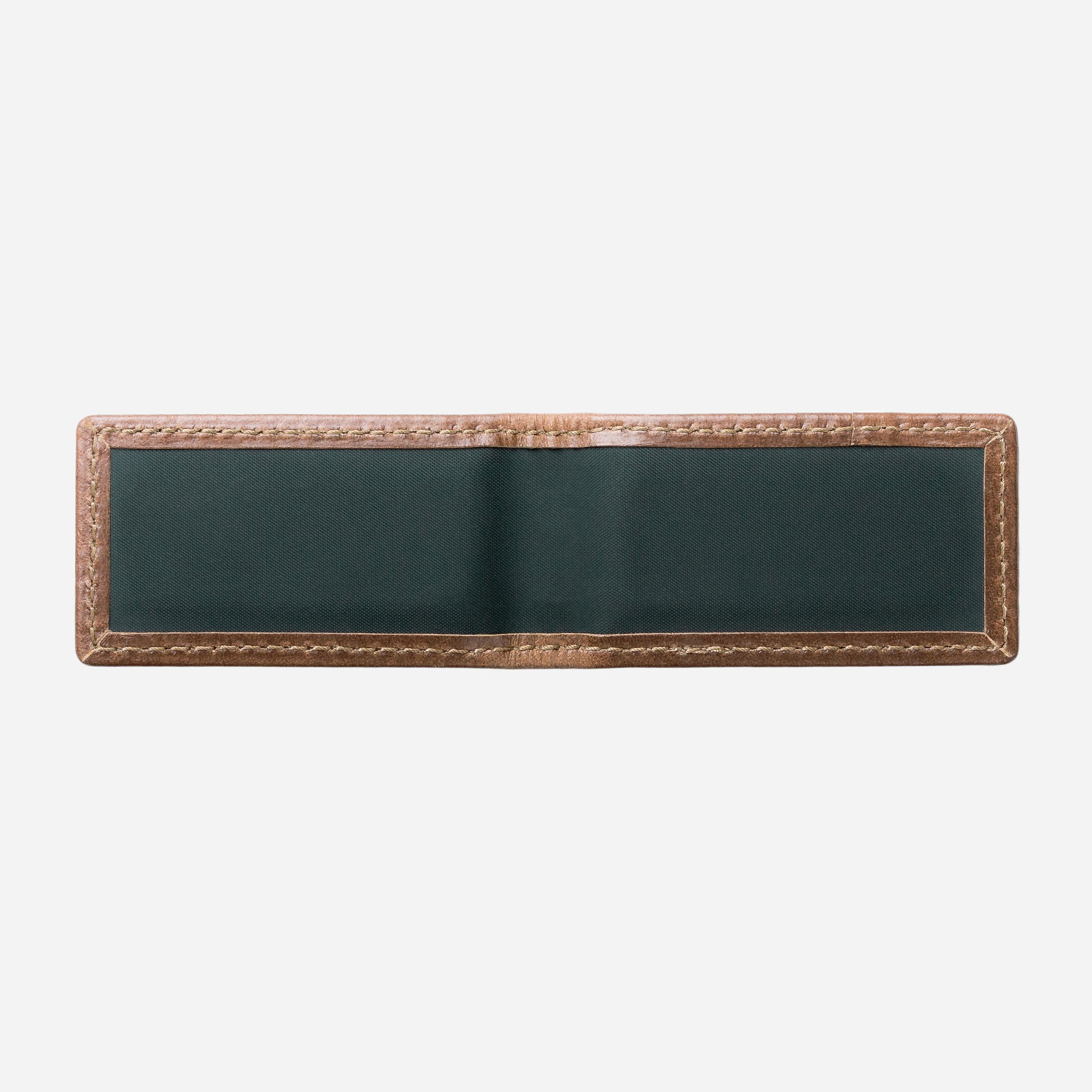 Leather Money Clip Front Opened