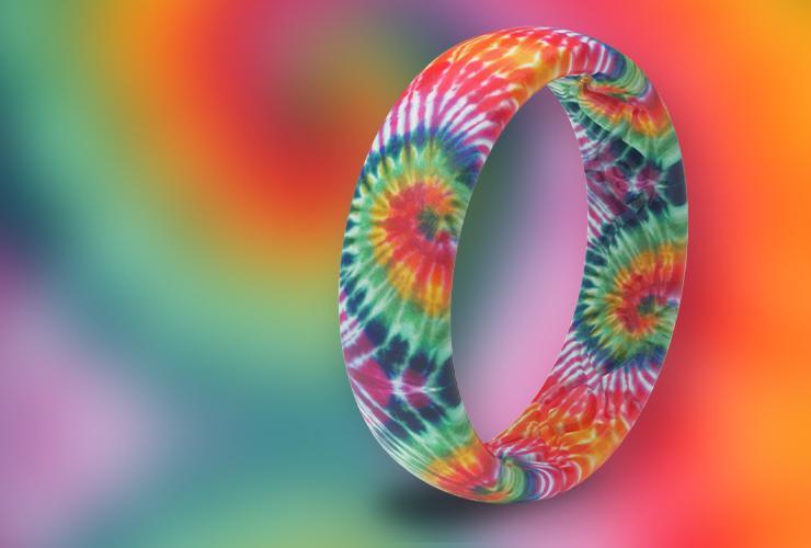 Tie-Dye Wedding Band