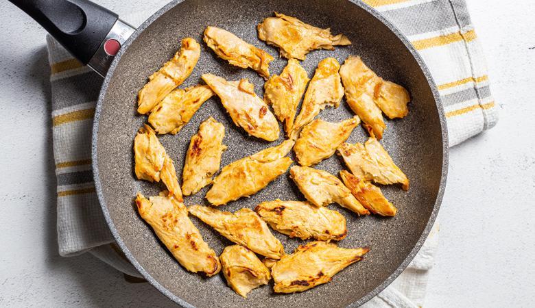 Daring Original Pieces cooking in skillet