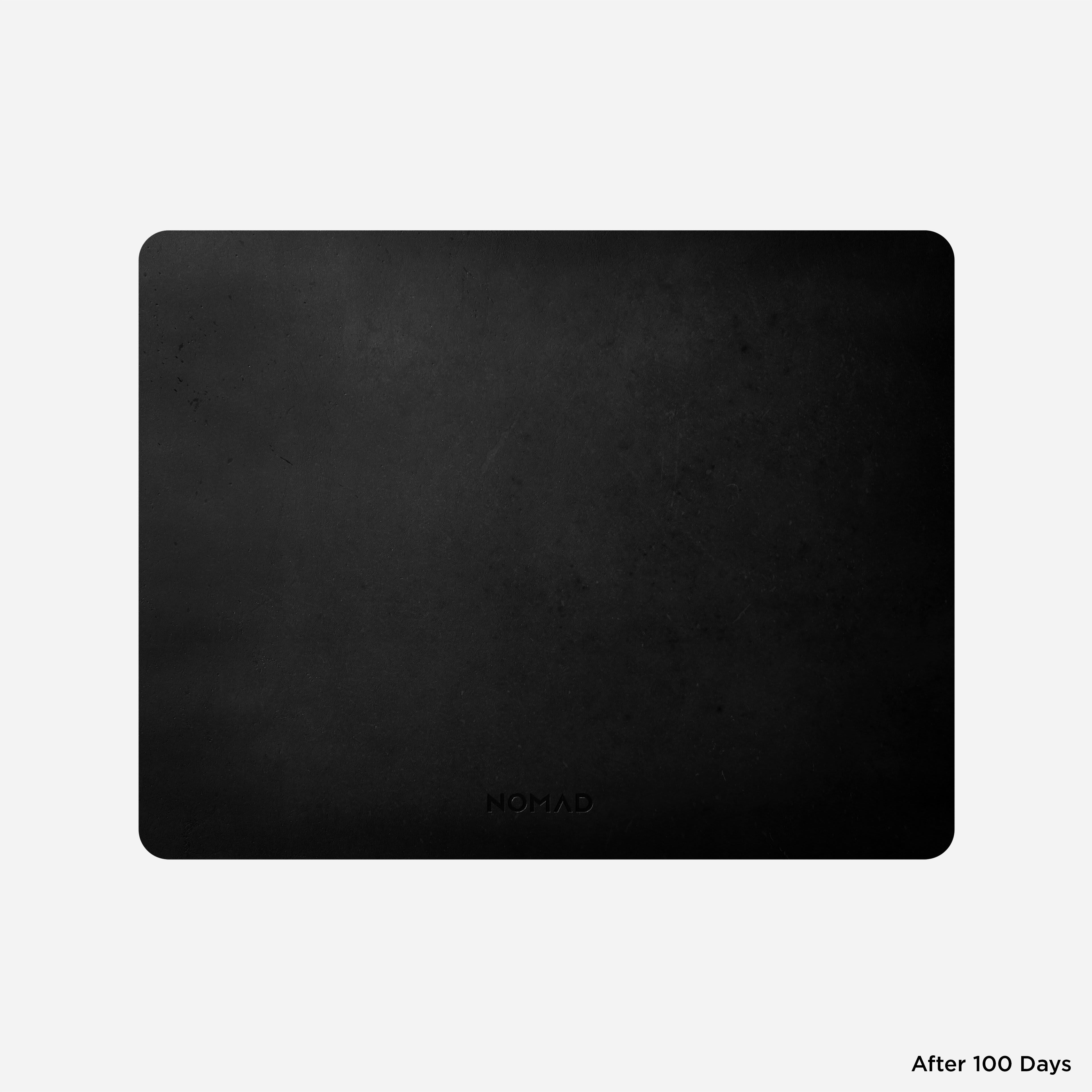 Horween Leather Mousepad Black 13-inch Aged