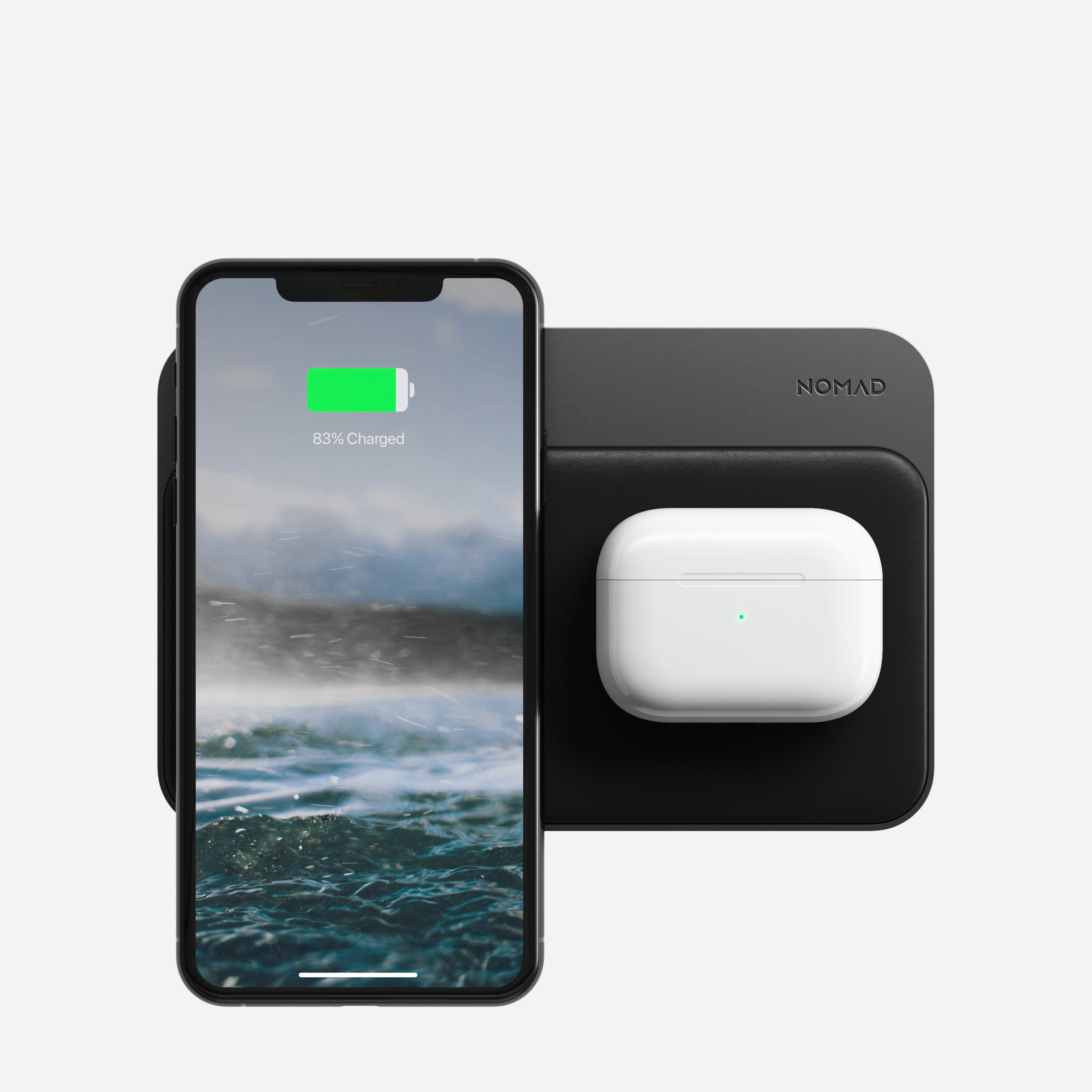 Base Station Hub with iPhone and AirPods charging