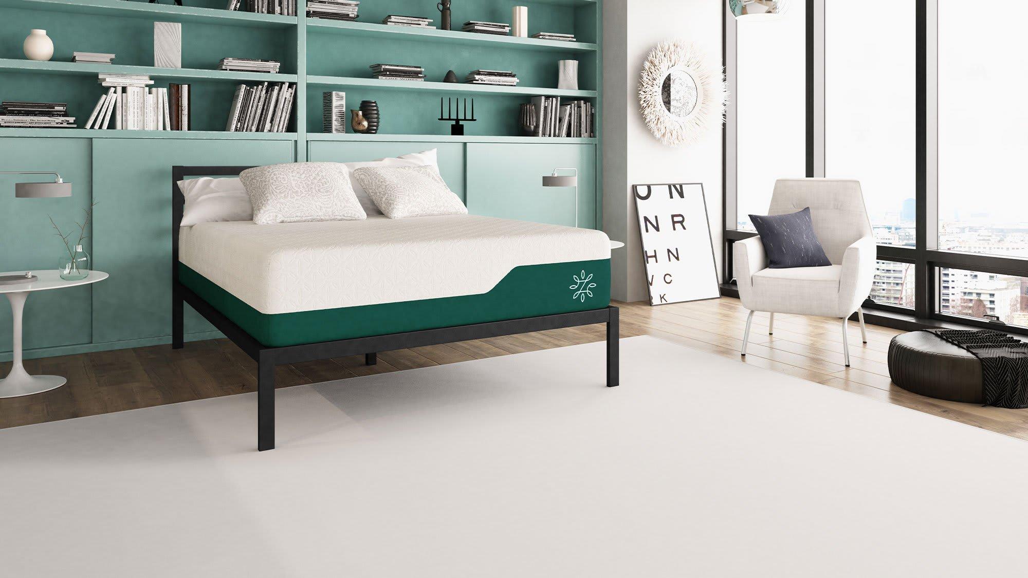 Memory Foam Mattress, Green Tea, Pressure Relief, Cooling Gel | Zinus