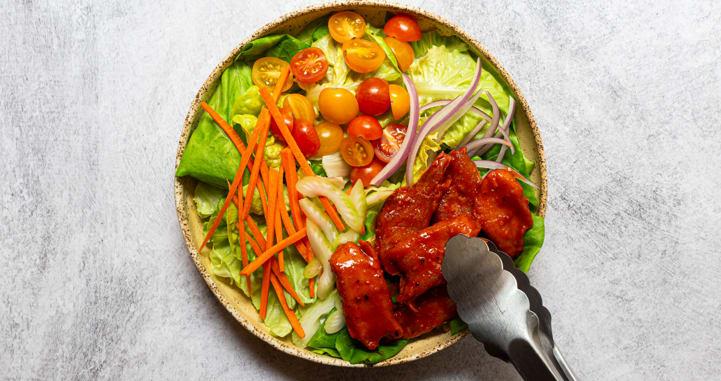 Daring buffalo chicken salad