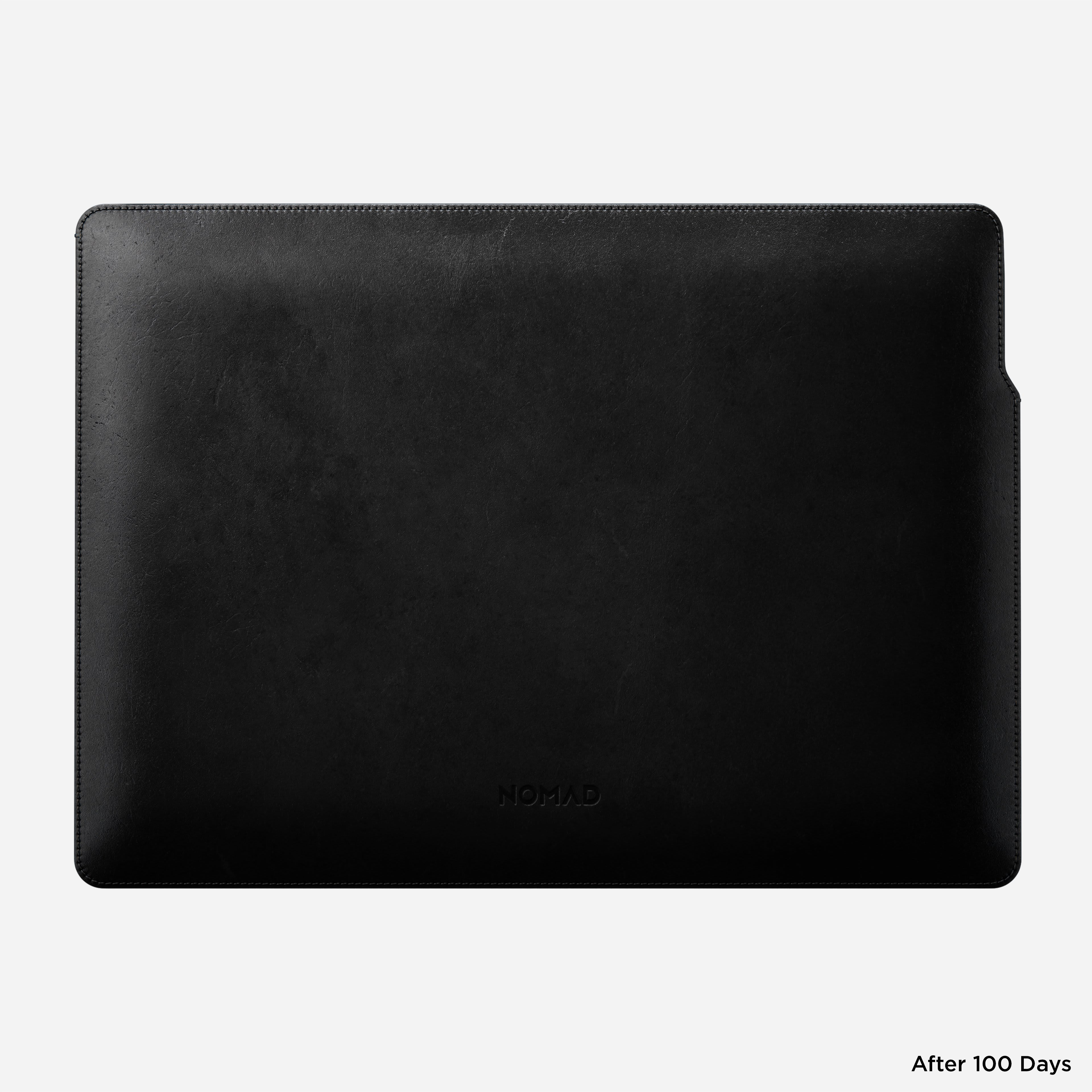MacBook Pro Laptop Sleeve Horween Leather Back View 16-inch