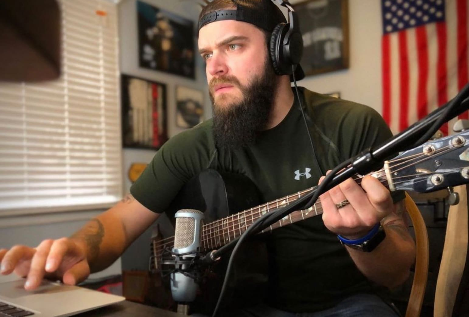 Josh Gallagher plays country rock music.