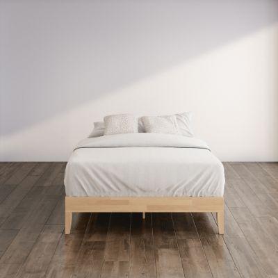 Moiz Deluxe wood platform bed frame Hero
