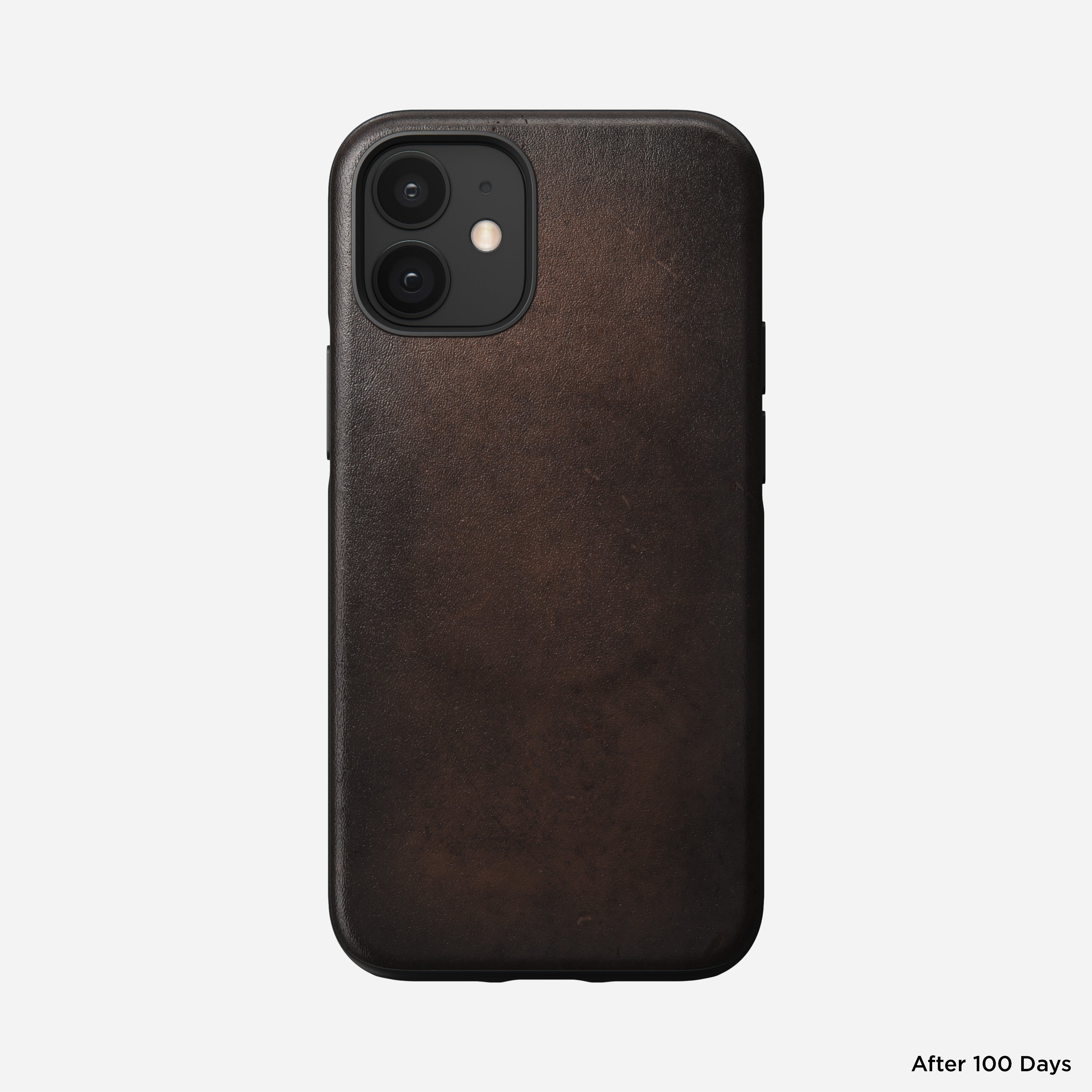 Rugged case magsafe horween leather rustic brown iphone 12 mini