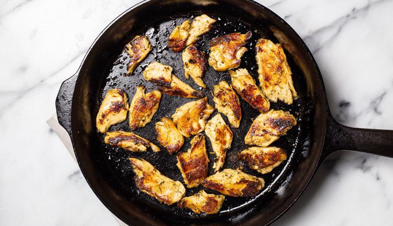 Daring Lemon & Herb Pieces in pan