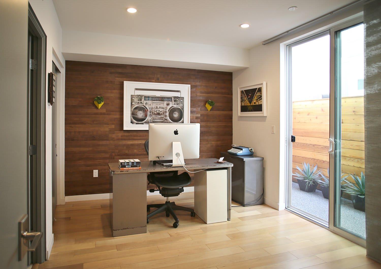 Reclaimed Barrel Oak peel and stick wood wall