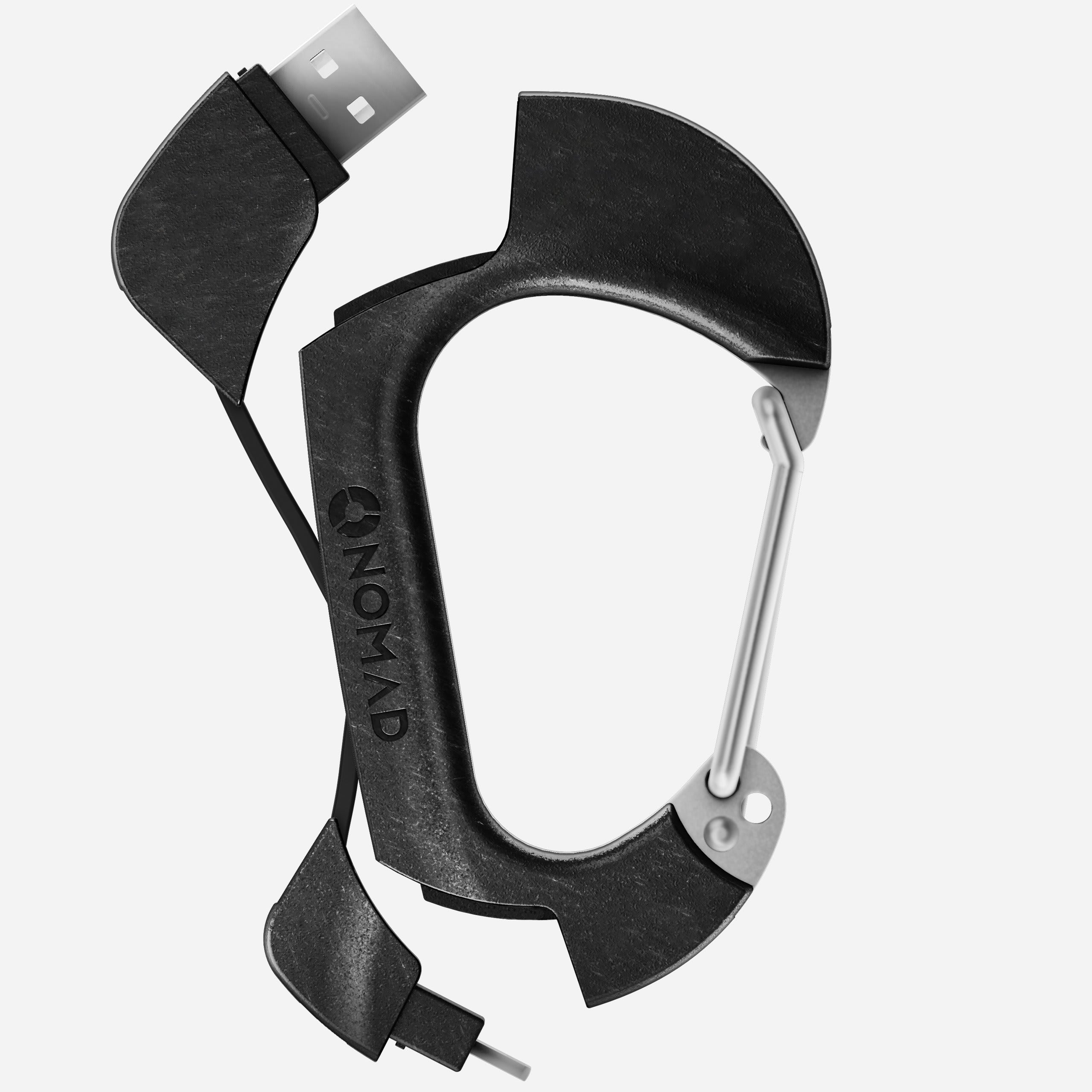 Carbon Carabiner Lightning Cable Expanded