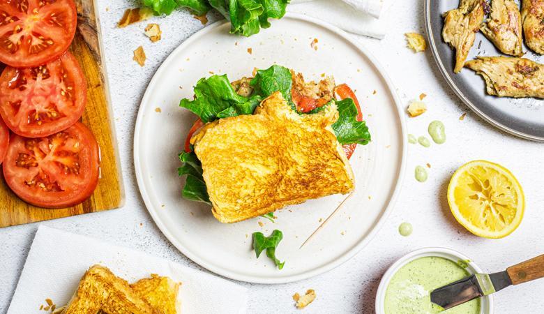 Daring Vegan Chicken DLT Sandwich