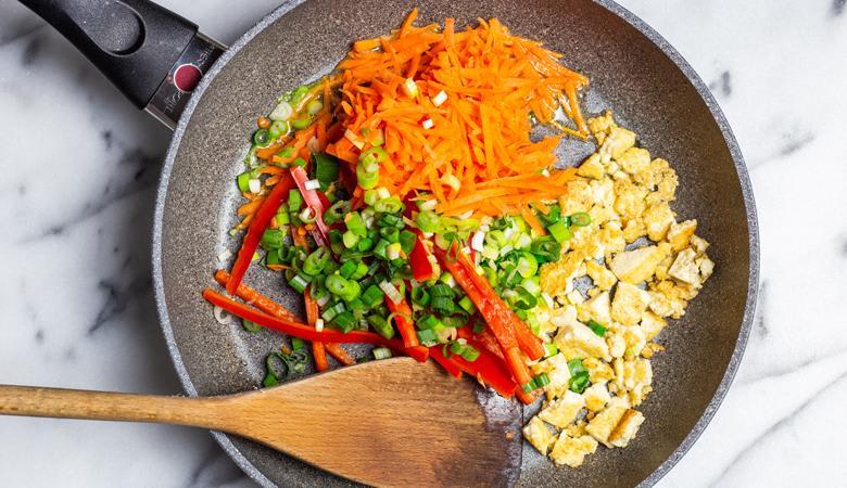 Vegan pad thai ingredients