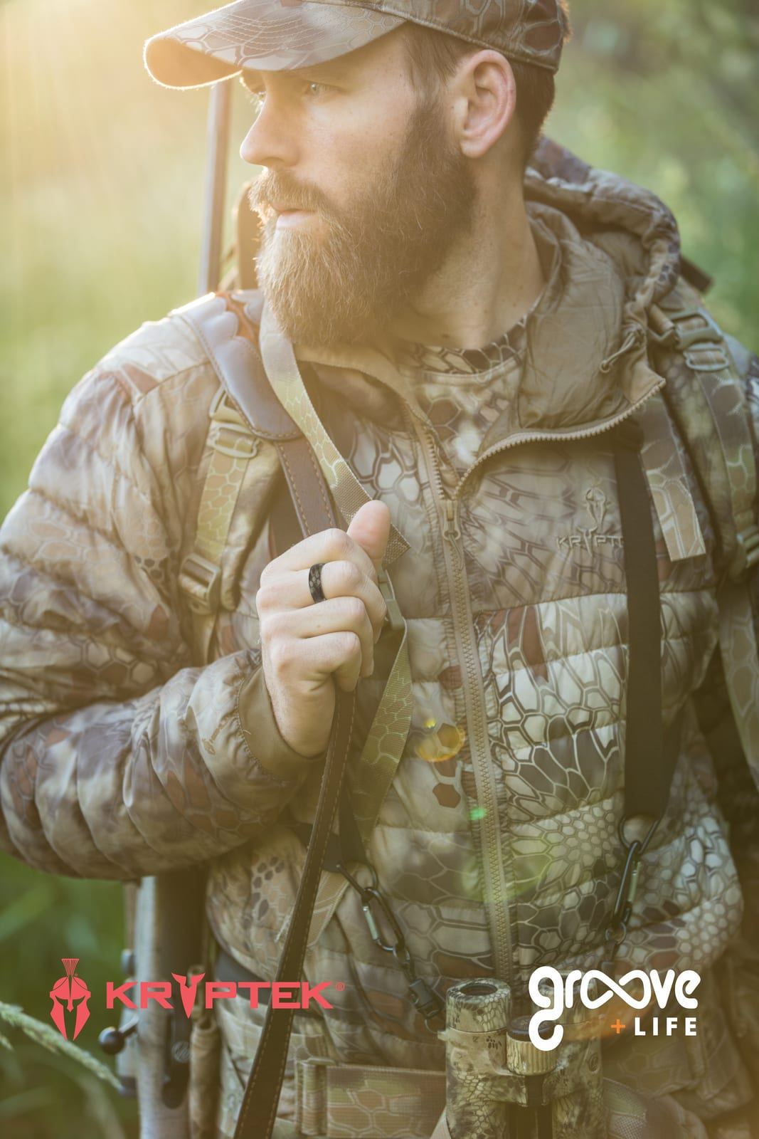 kryptek camouflage highlander silicone ring