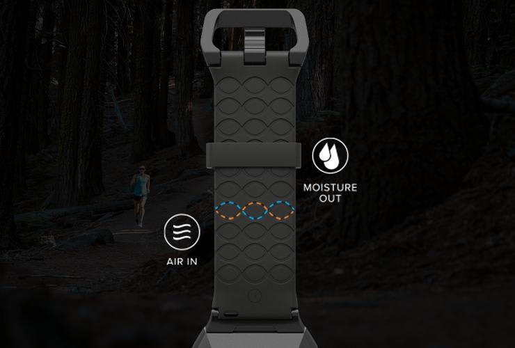 air in moisture out breathable watch band