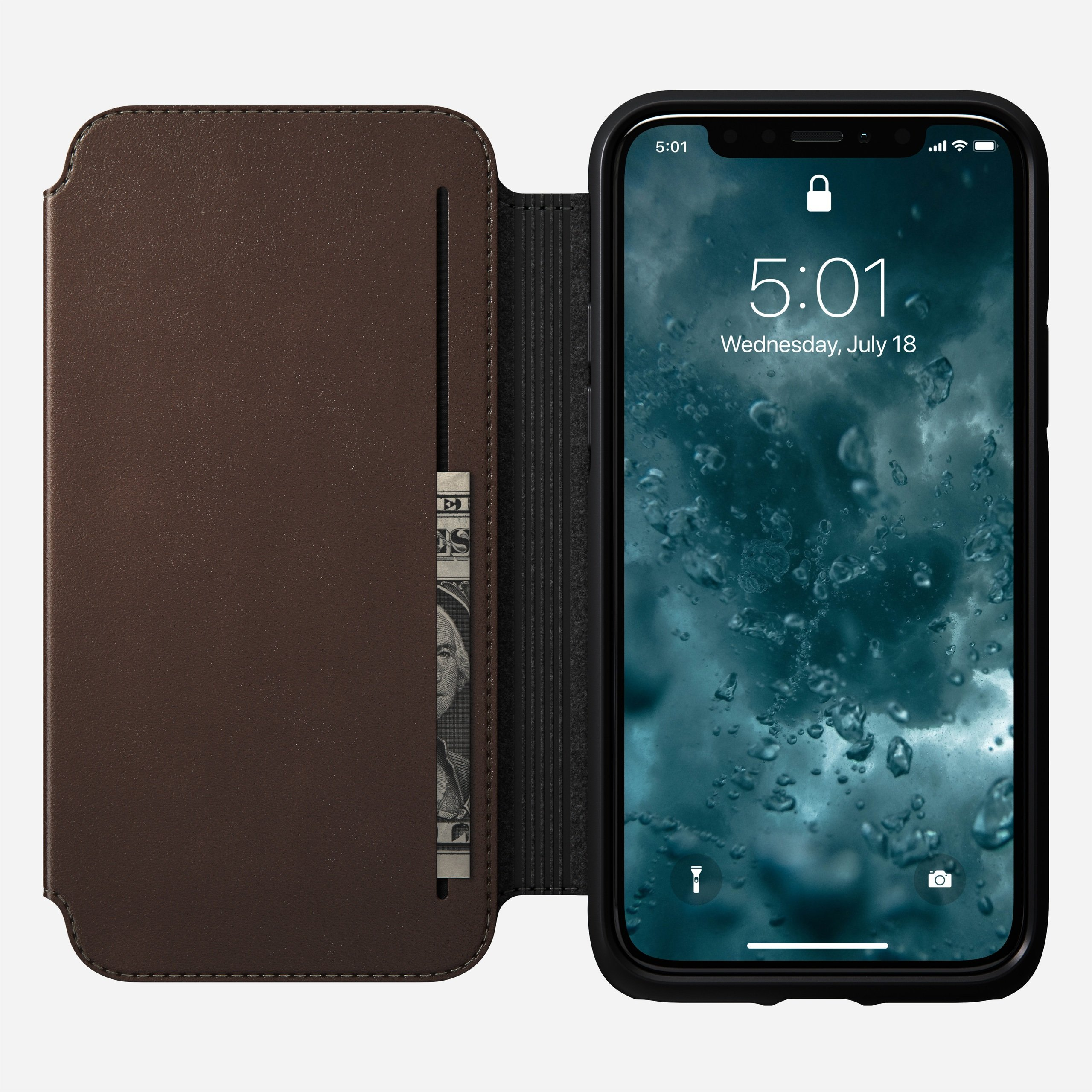 Rugged tri folio rustic brown iphone 11 pro