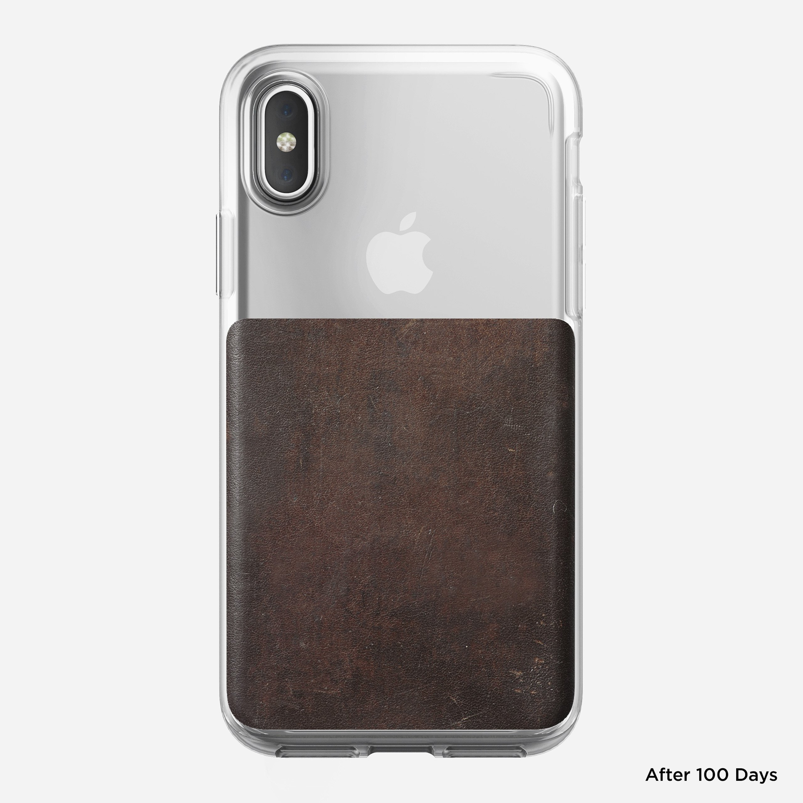 Clear case rustic brown x