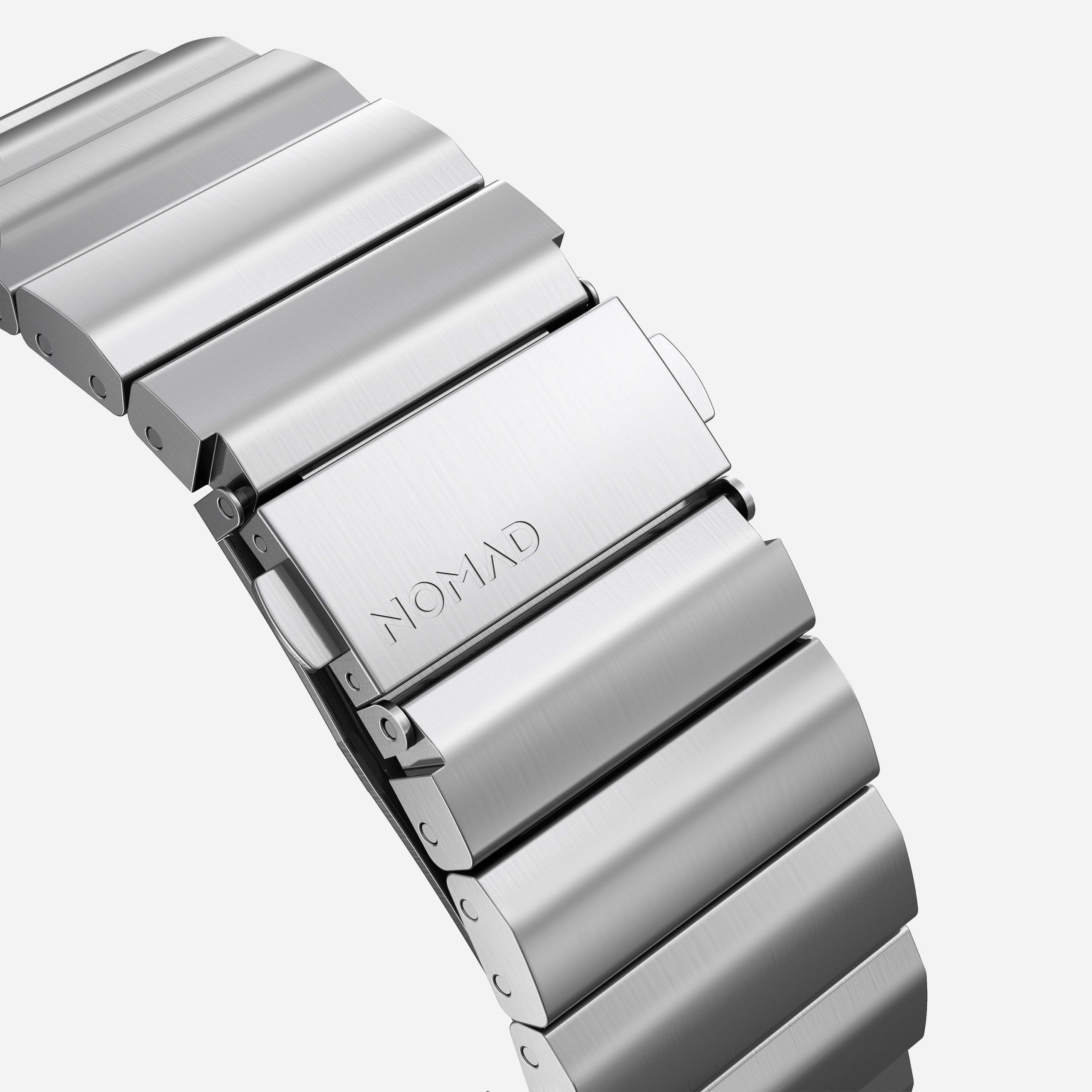 Titanium band silver hardware