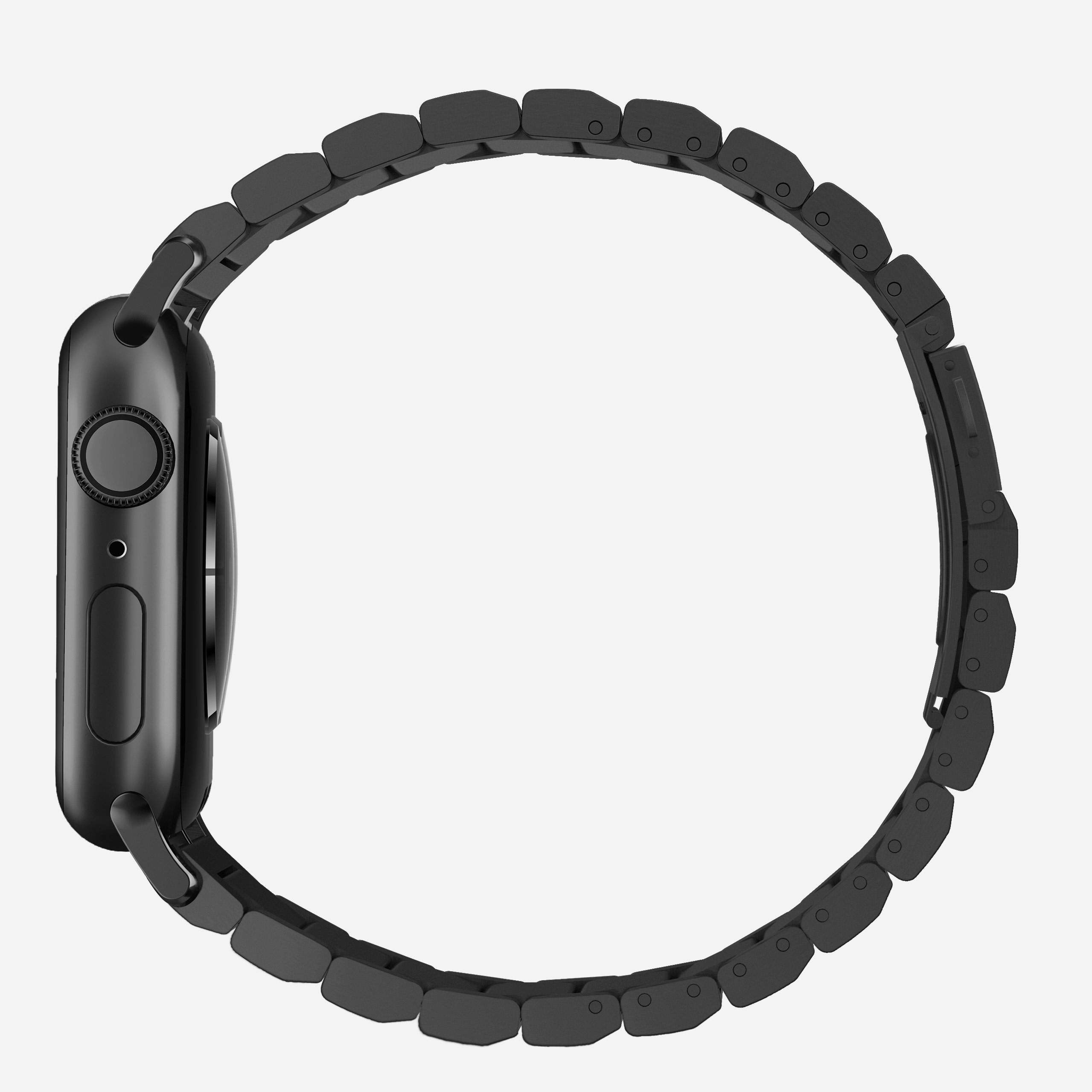 Titanium band black hardware