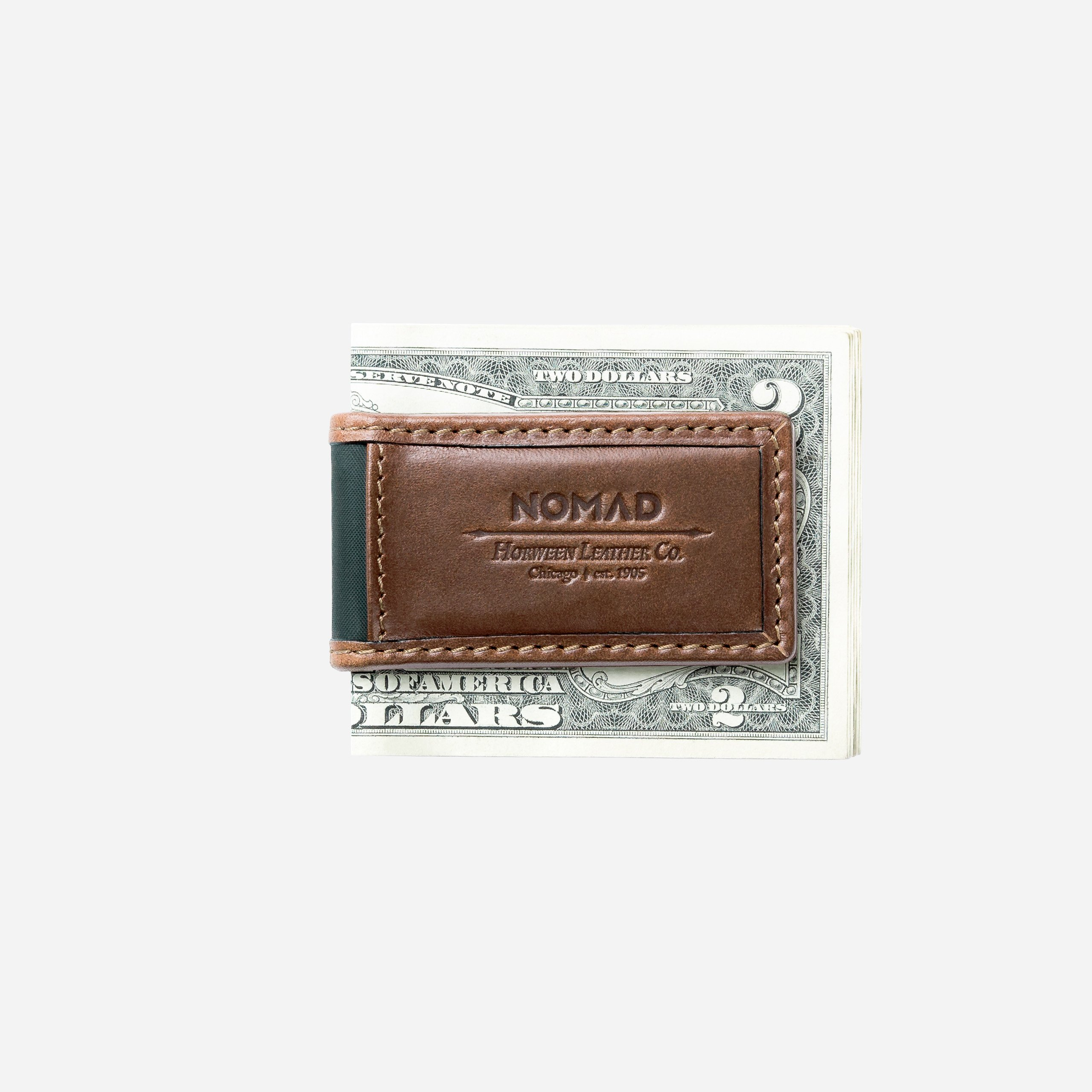 Leather Money Clip With Money