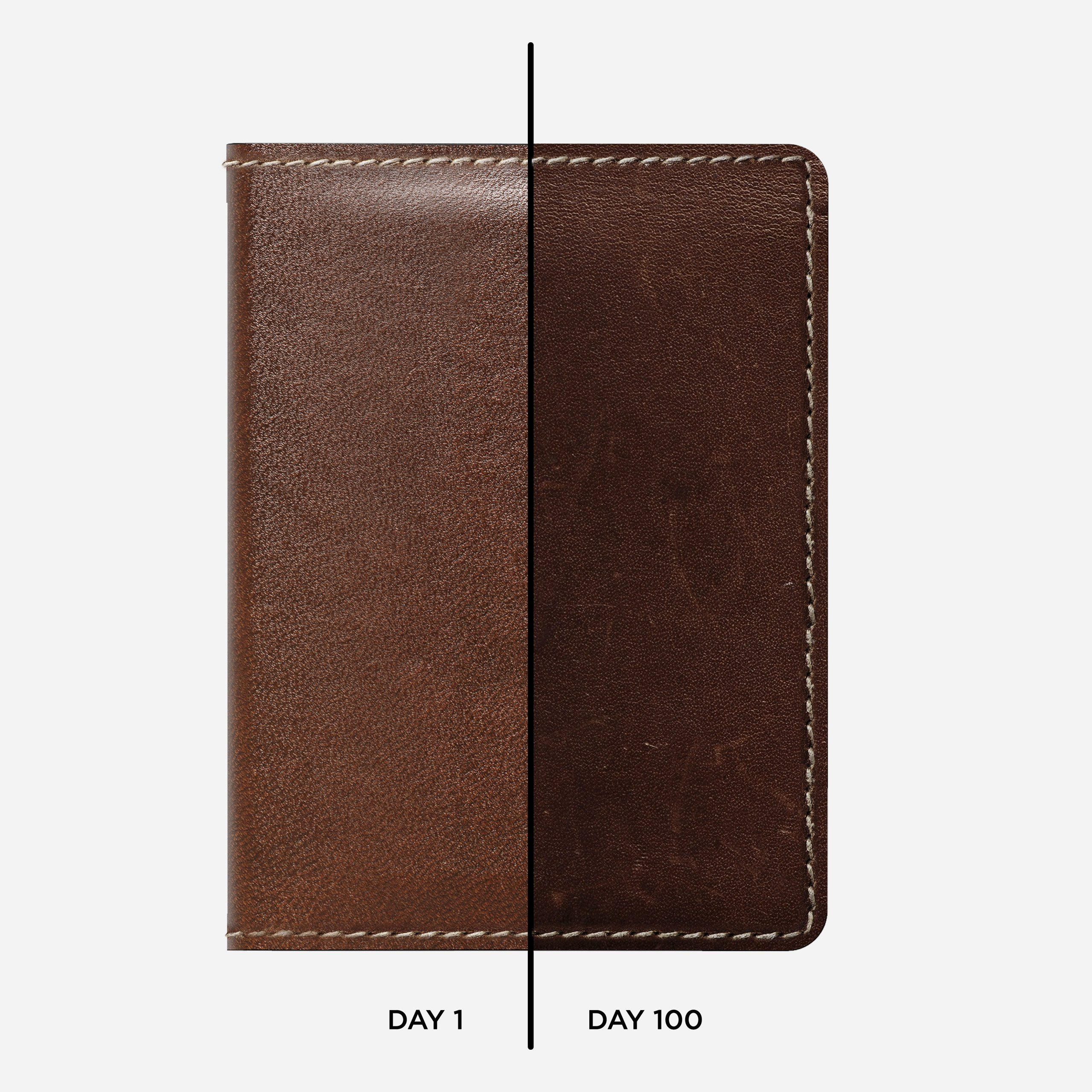 Slim Leather Wallet Rustic Brown Horween Leather