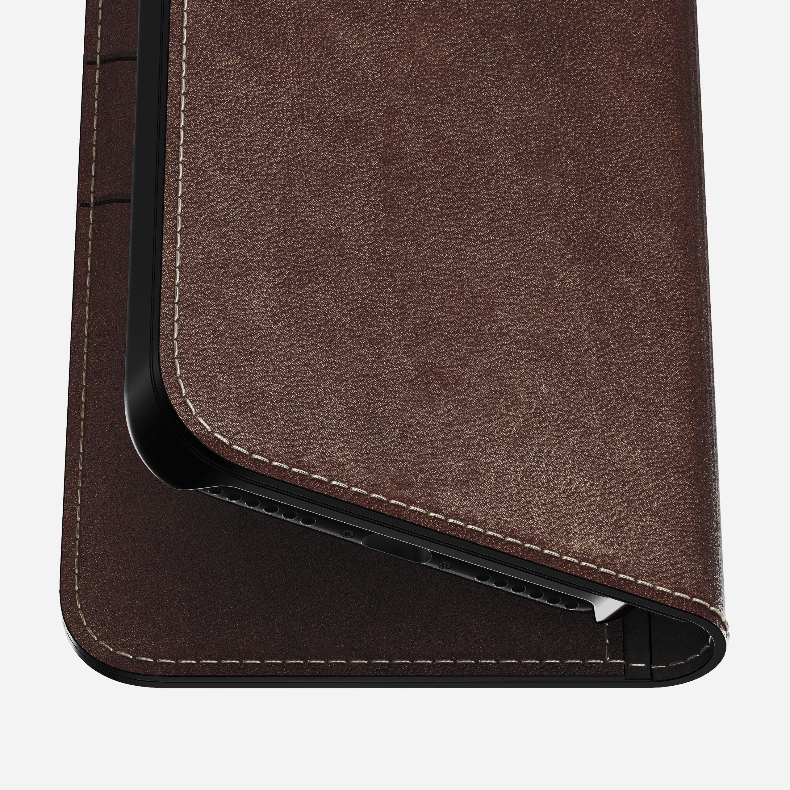 Leather folio rustic brown x