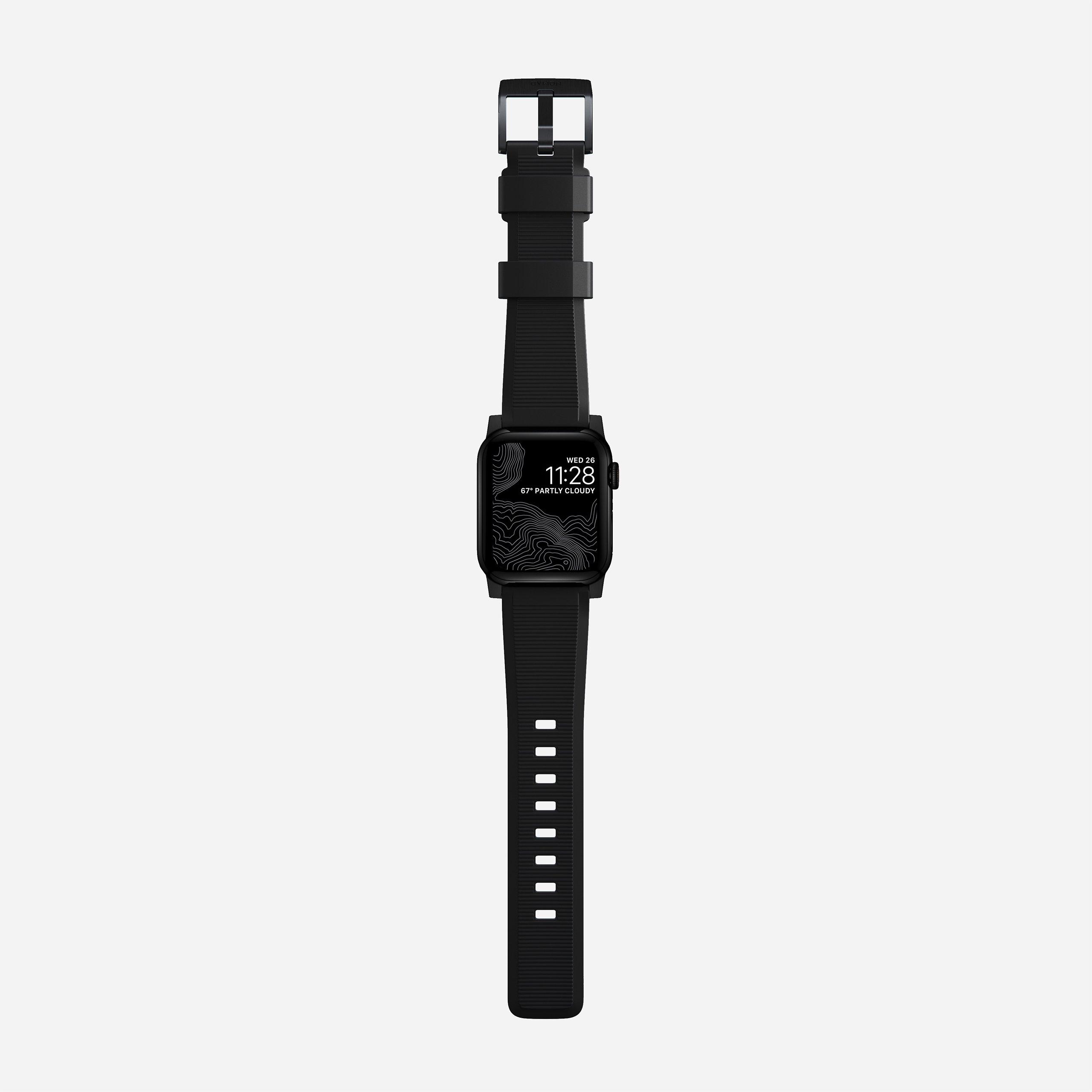 Rugged strap black hardware 40mm