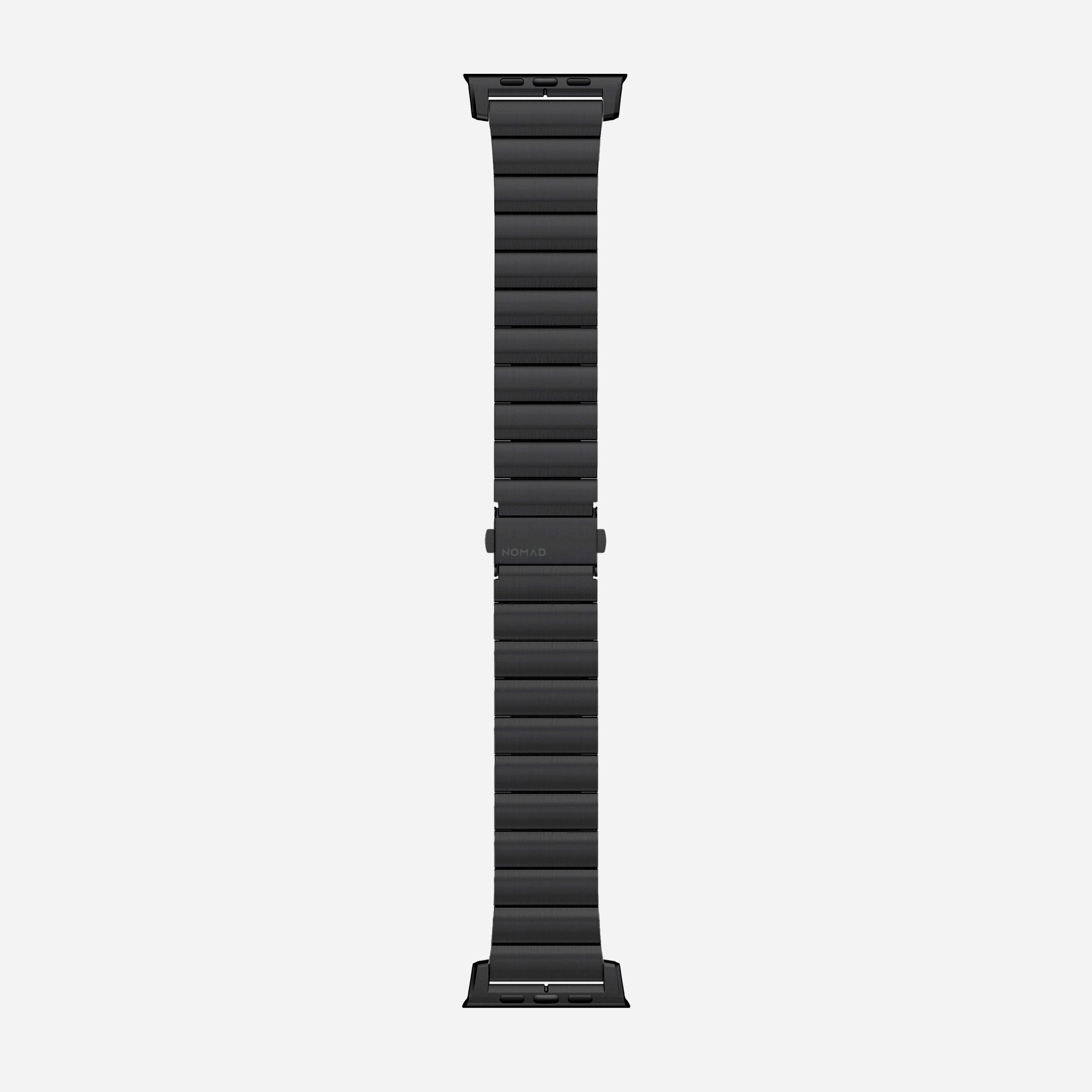 Titanium band black hardware