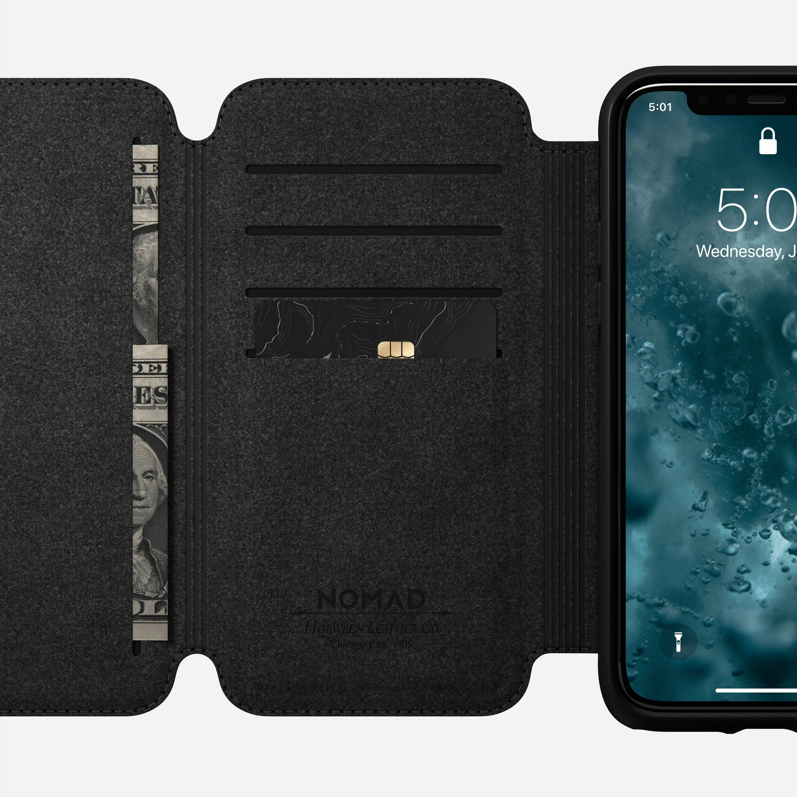 Rugged tri folio black iphone 11 pro