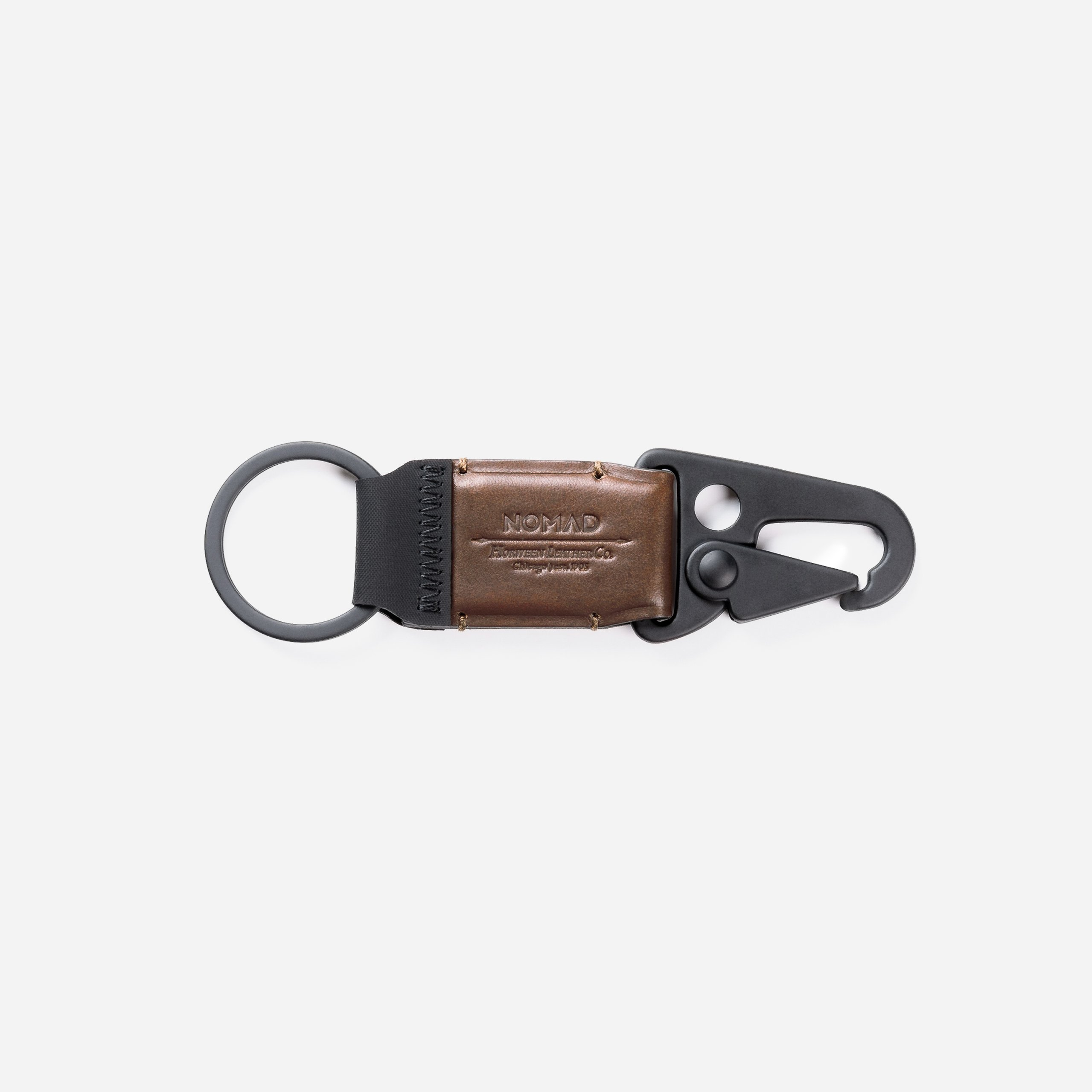 Leather Keychain Clip Side View