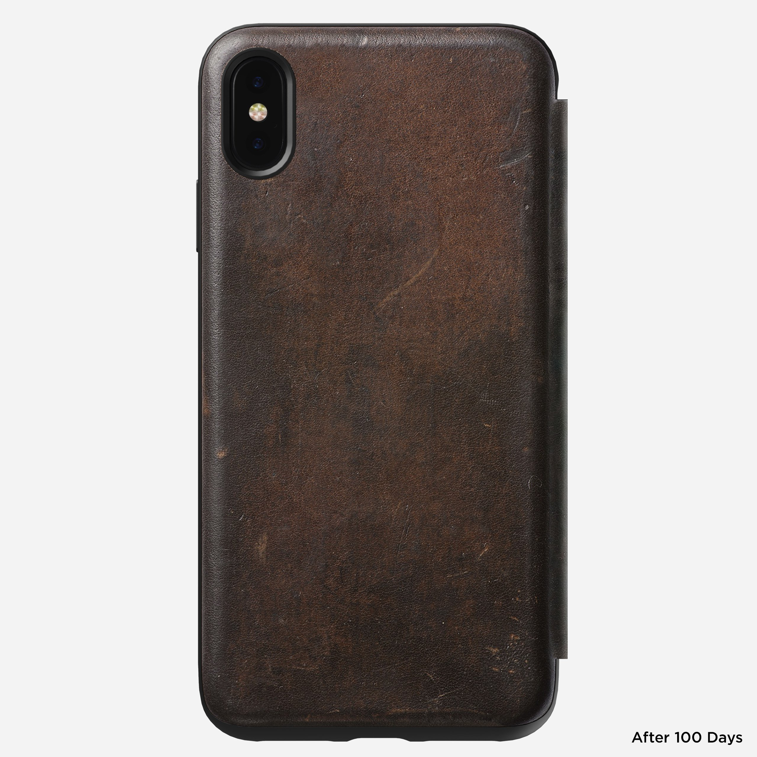 Rugged folio rustic brown xs max