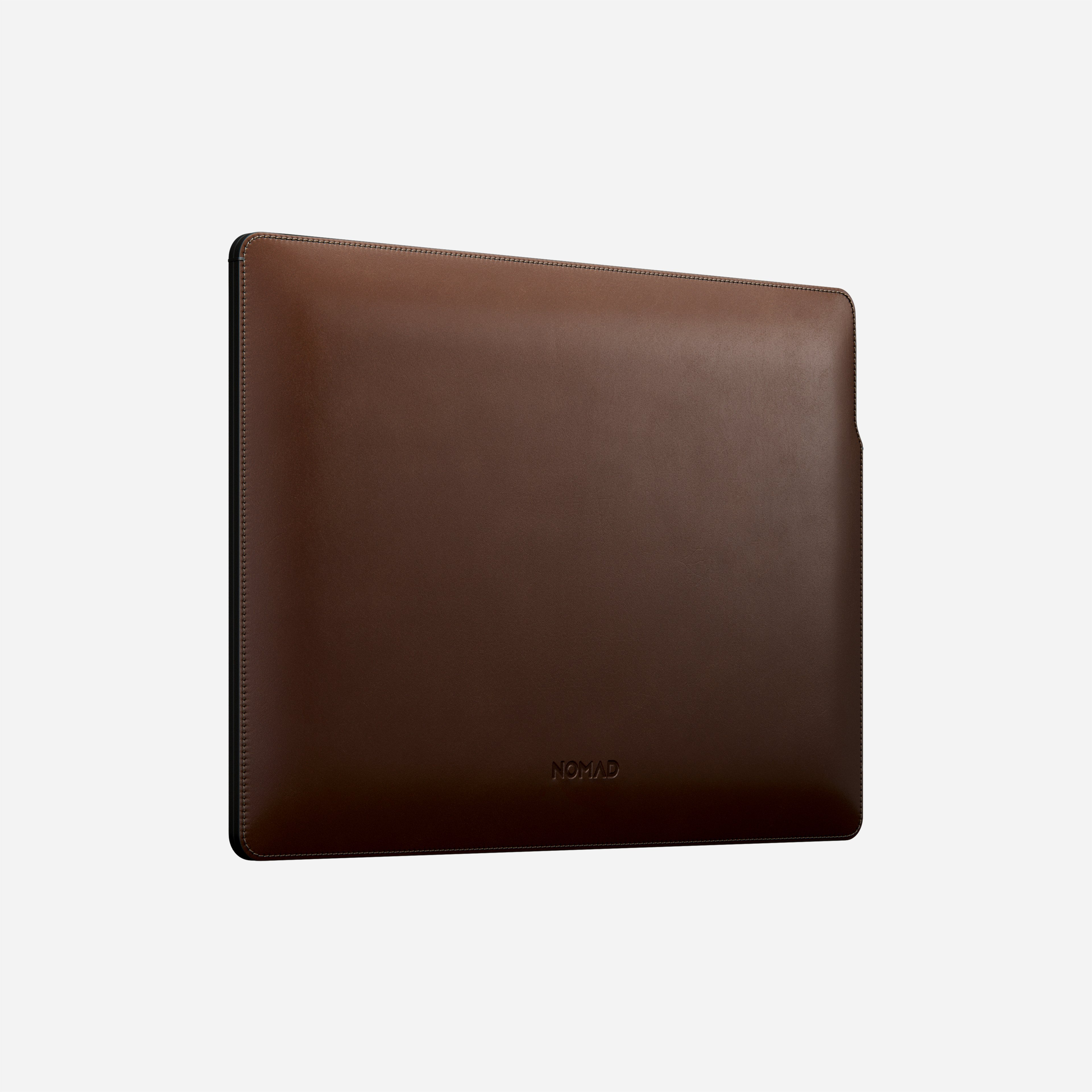MacBook Pro Laptop Sleeve Horween Leather Angled Front View 13-inch