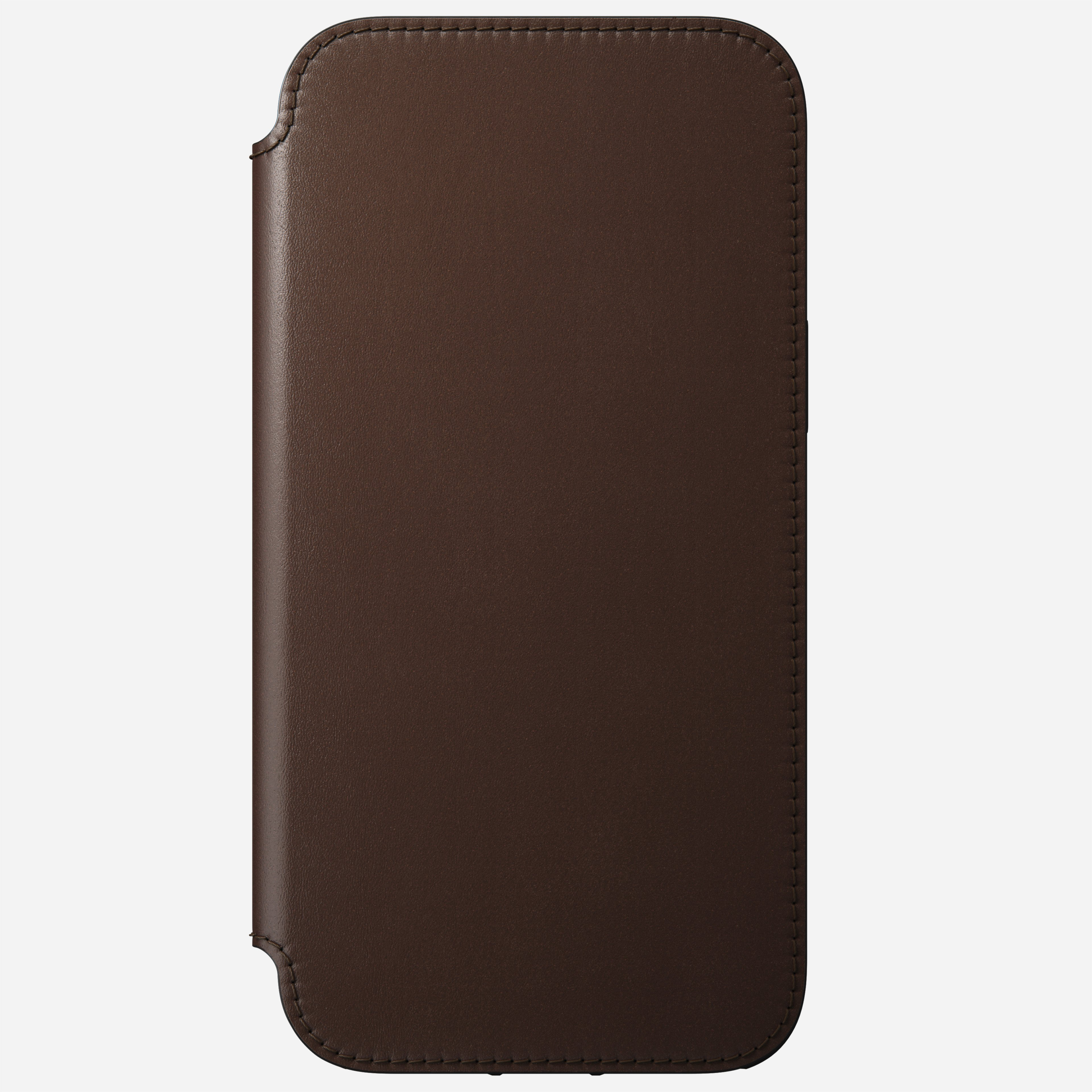 Rugged folio magsafe horween leather rustic brown iphone 12 pro max