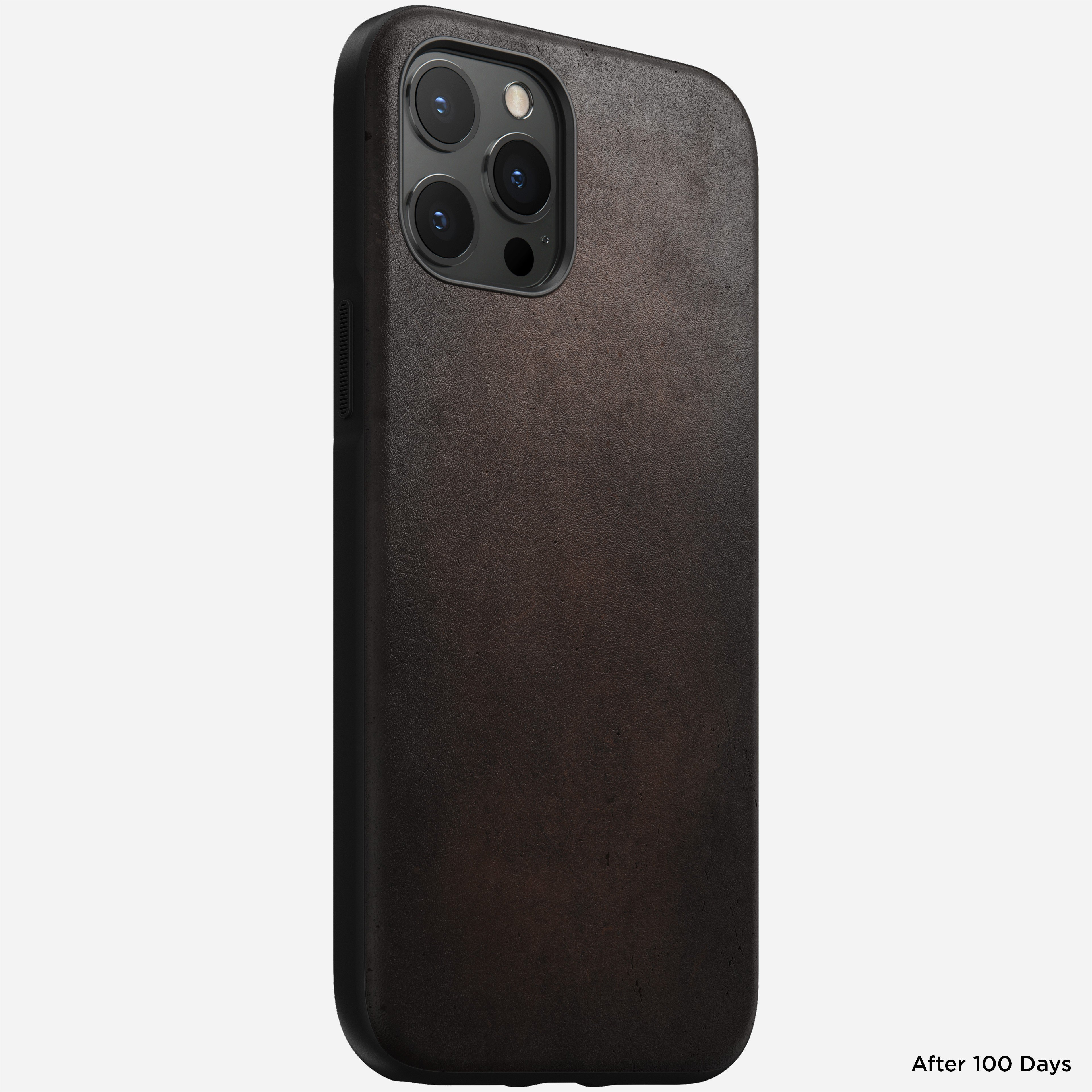 Rugged case horween leather rustic brown iphone 12 pro max