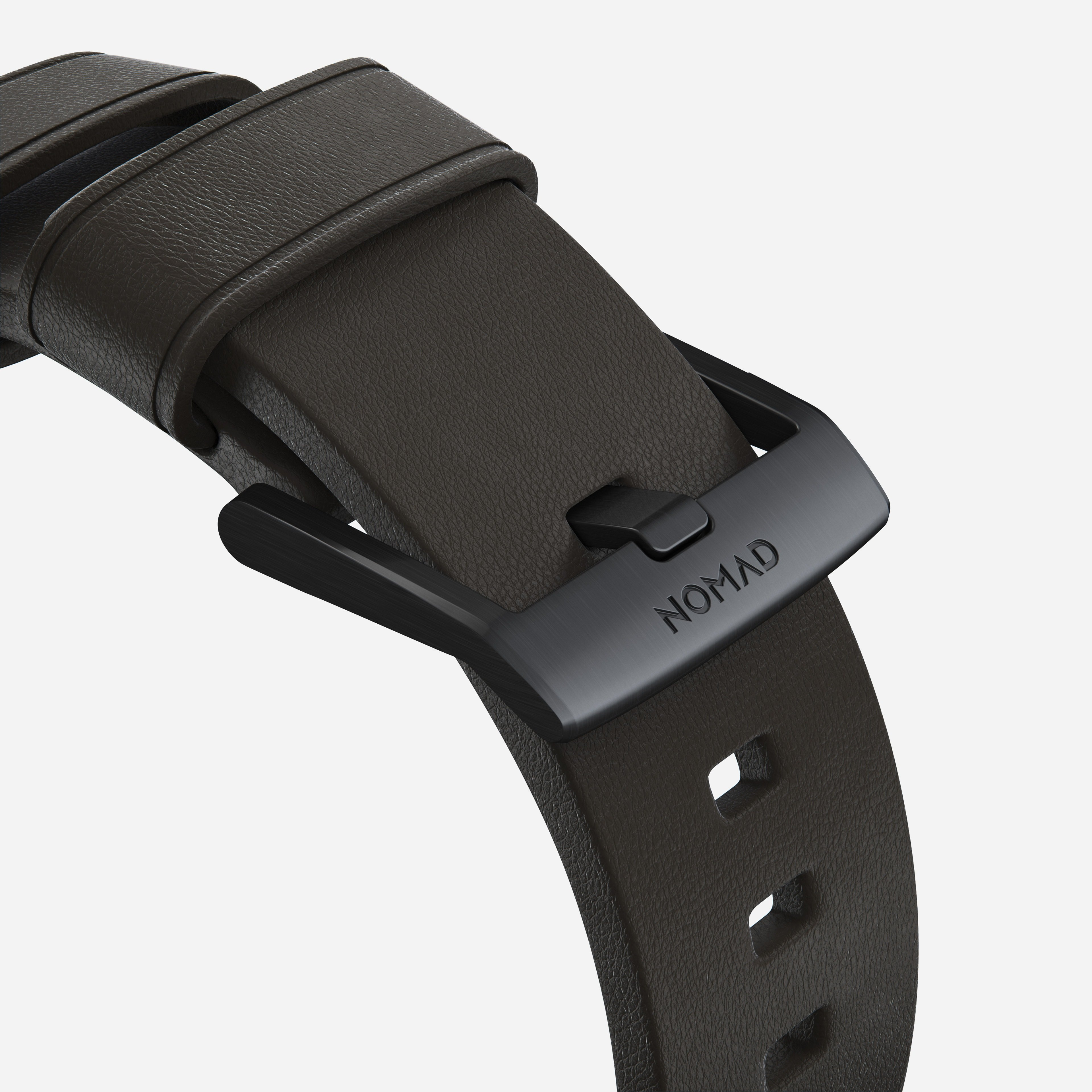 Active strap mocha leather black hardware