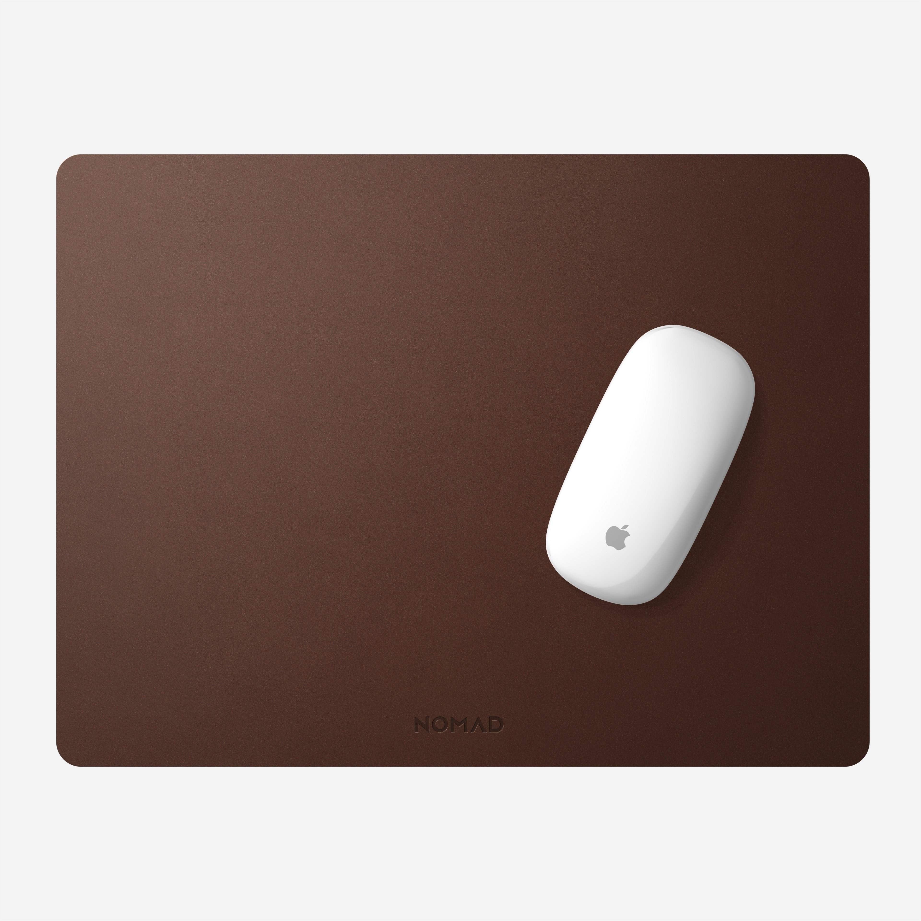 Horween Leather Mousepad Rustic Brown 16-inch