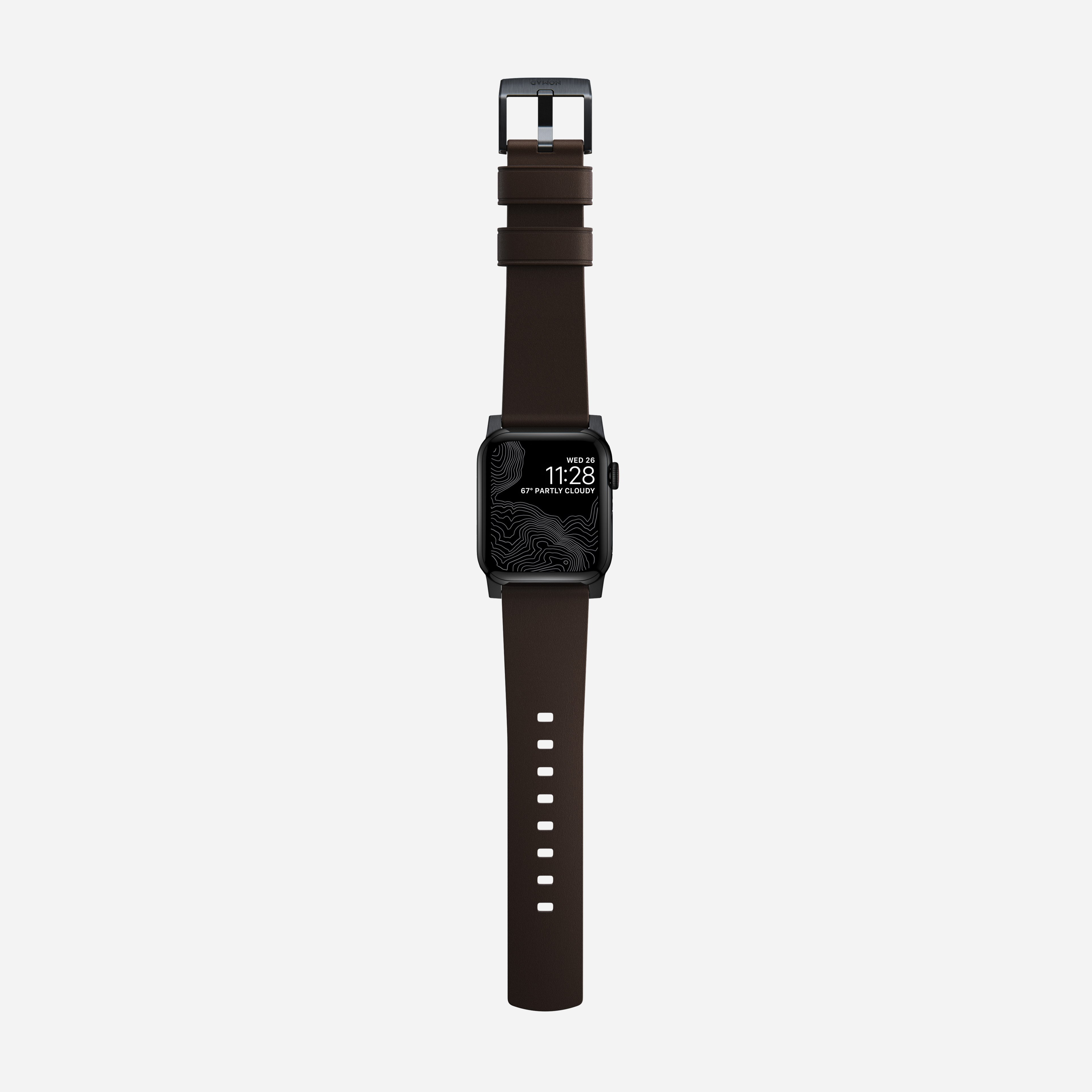 Active strap pro heinen leather classic brown black hardware 40mm