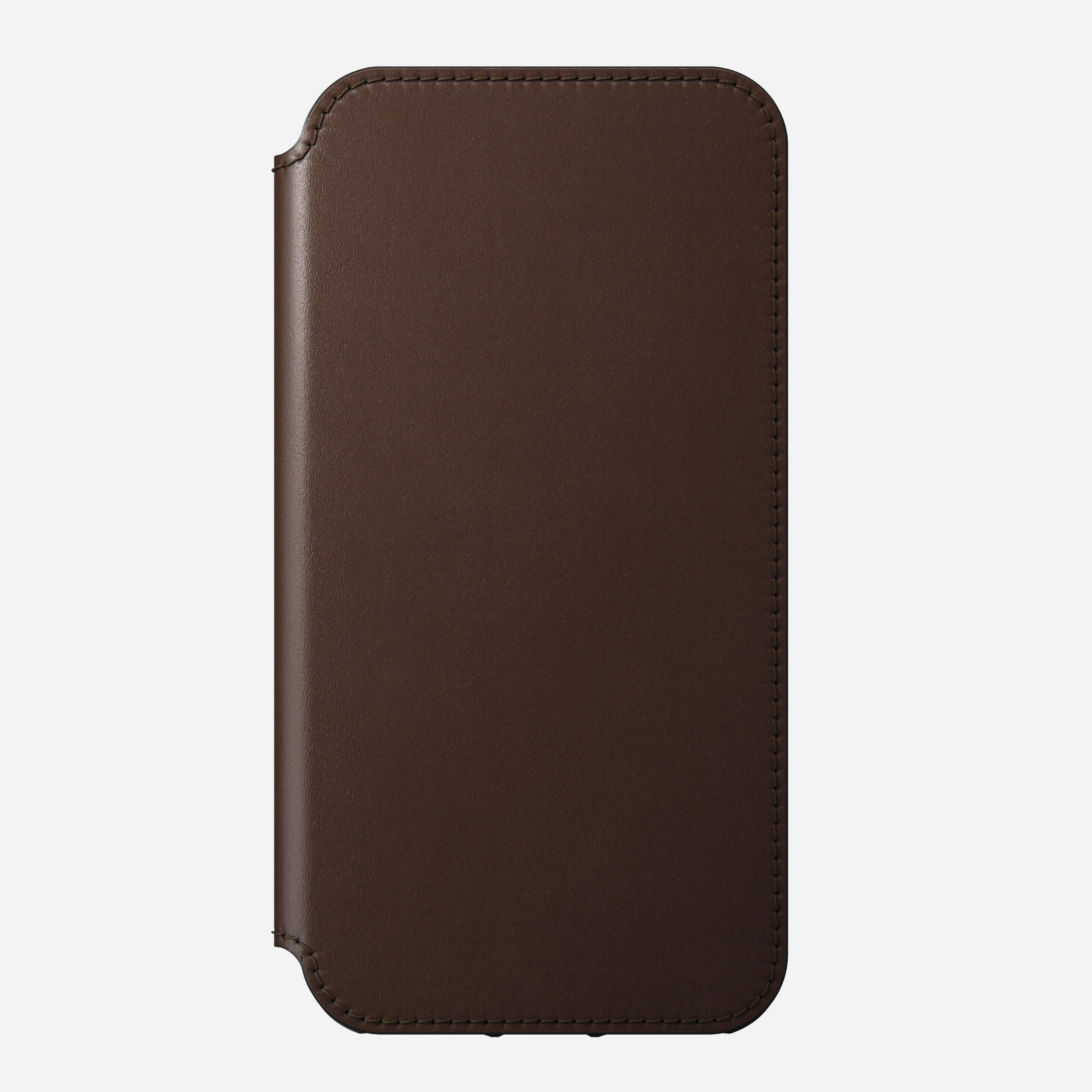 Rugged folio horween leather rustic brown iphone 12