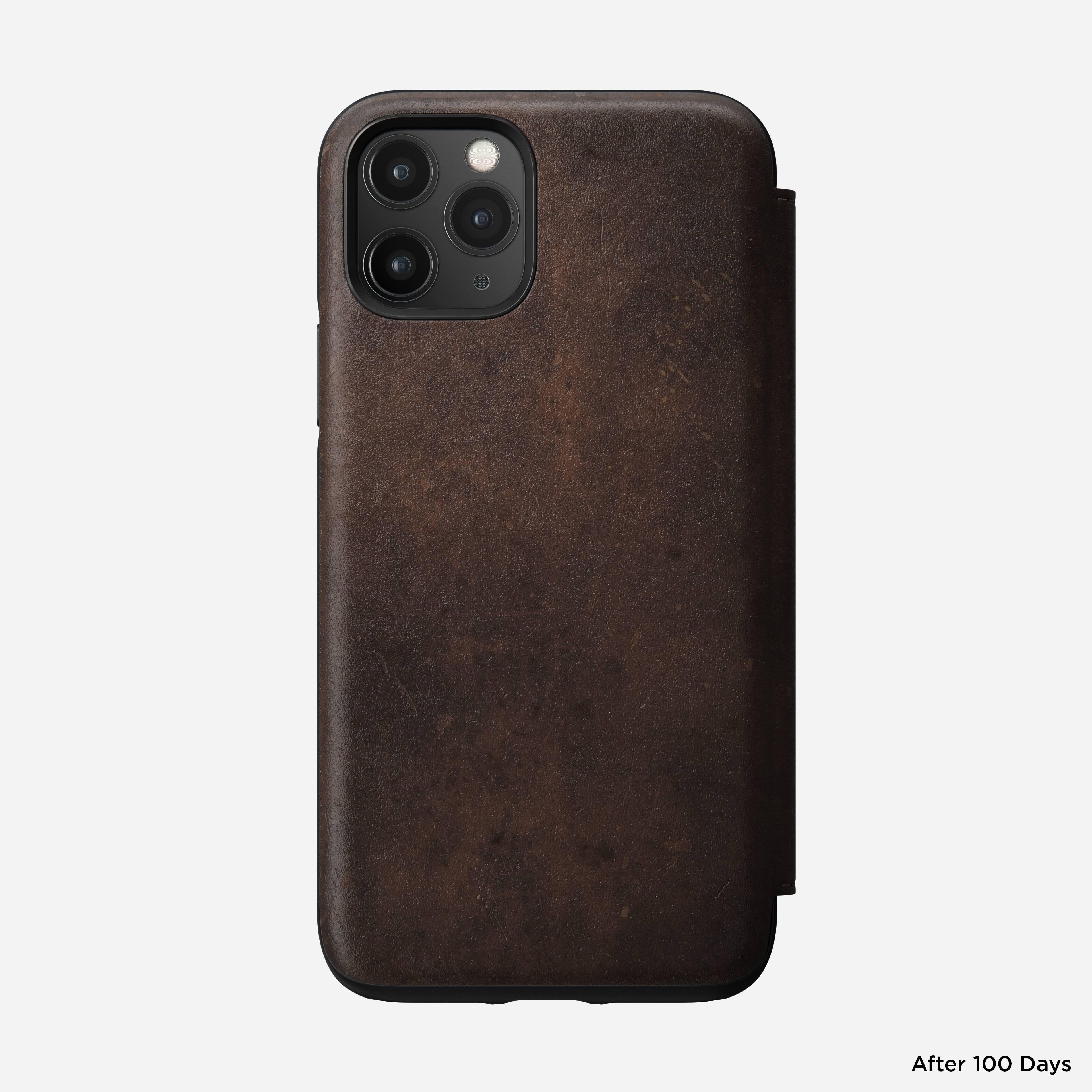 Rugged folio rustic brown iphone 11 pro