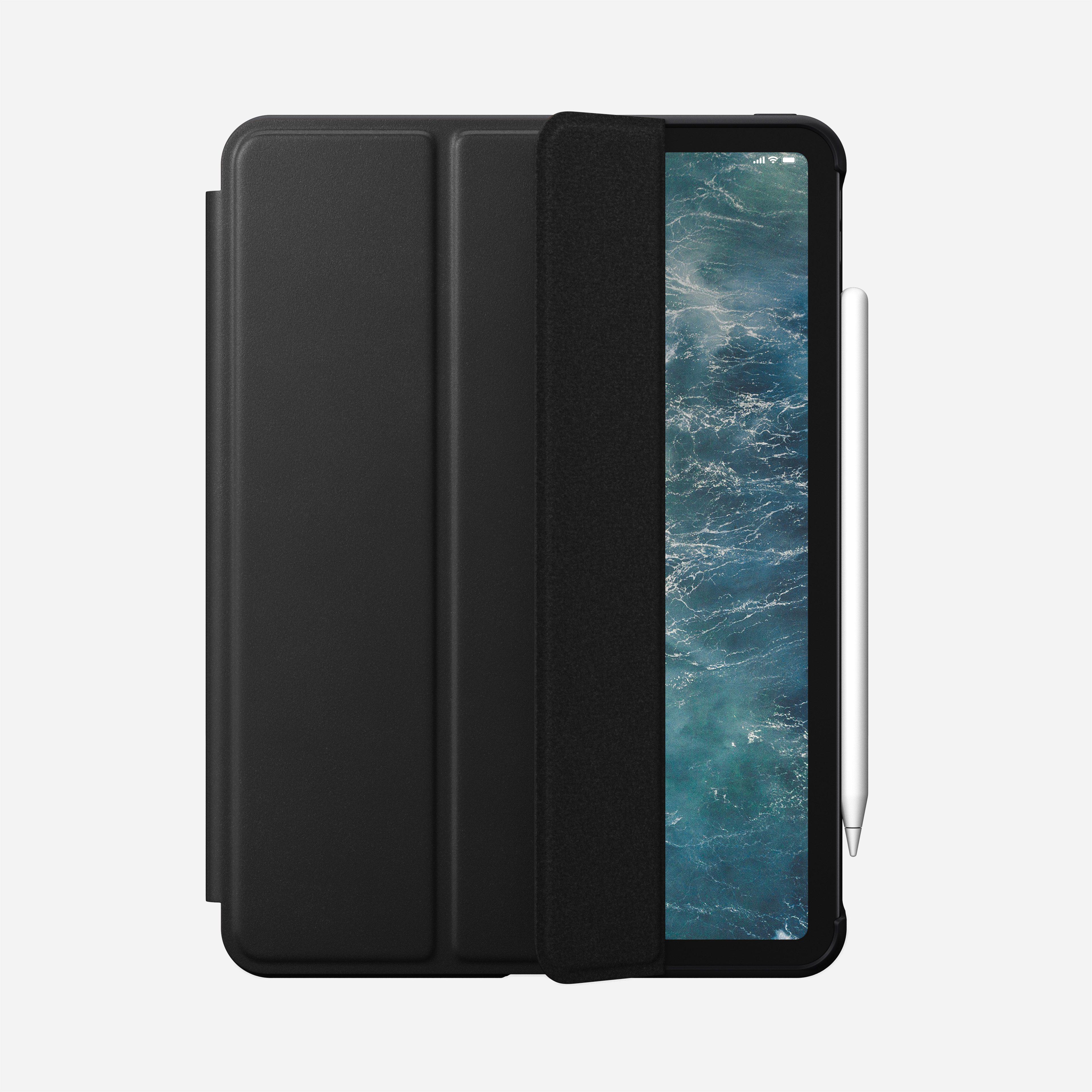 Rugged folio horween leather black ipad pro 11 inch 2nd generation
